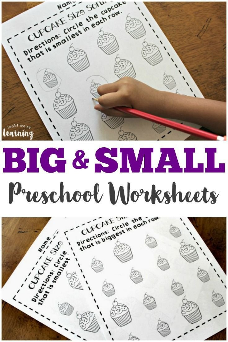 Big Vs Little Worksheets Preschool Worksheets Big and Small Worksheets for Preschool