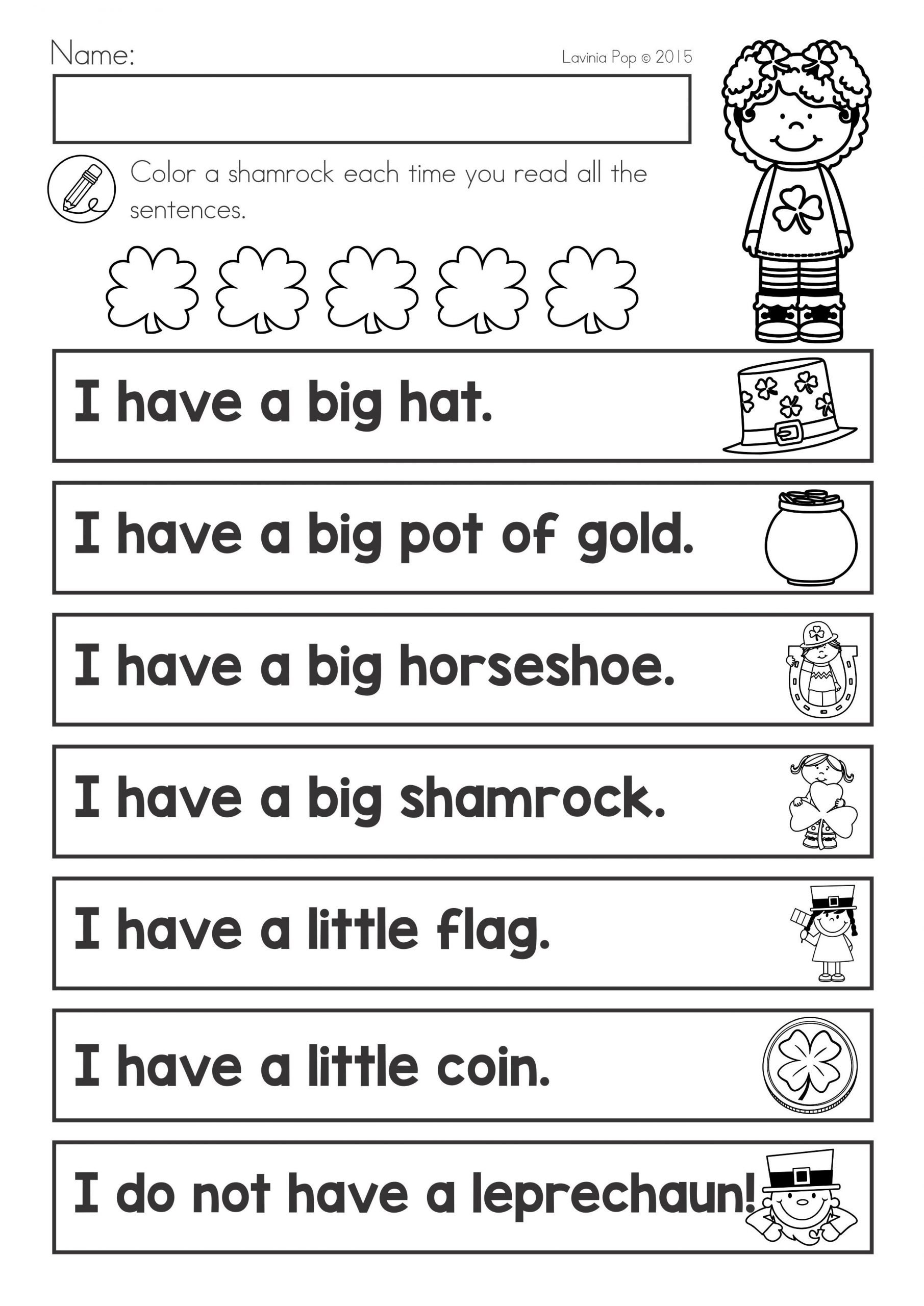 Big Vs Little Worksheets St Patrick S Day Math & Literacy Worksheets & Activities No