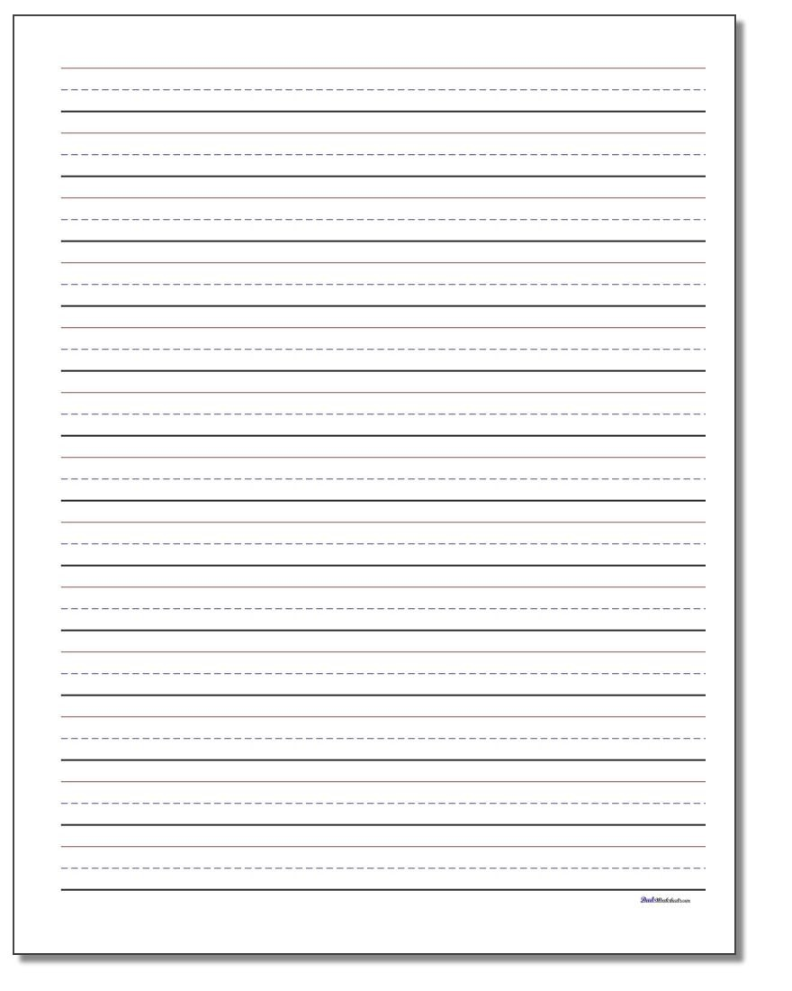Blank Spelling Practice Worksheets Handwriting Paper