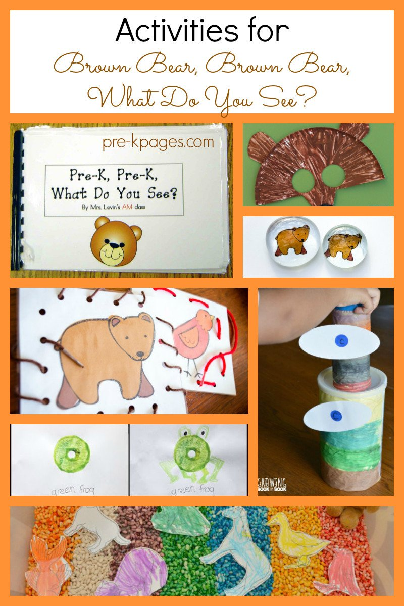 Brown Bear Brown Bear Worksheets Activities for Brown Bear Brown Bear What Do You See