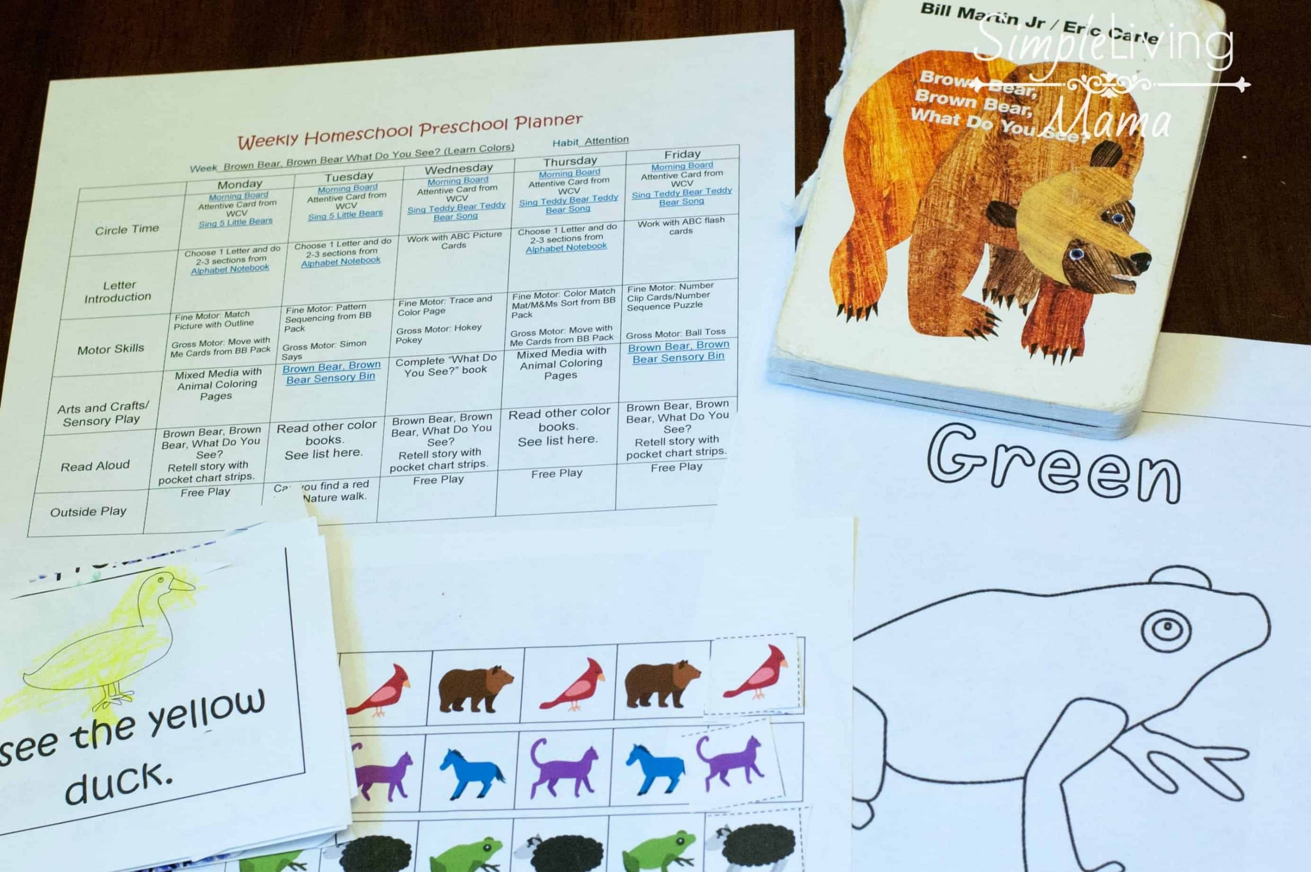 Brown Bear Brown Bear Worksheets Brown Bear Brown Bear Pre K K Lesson Plans