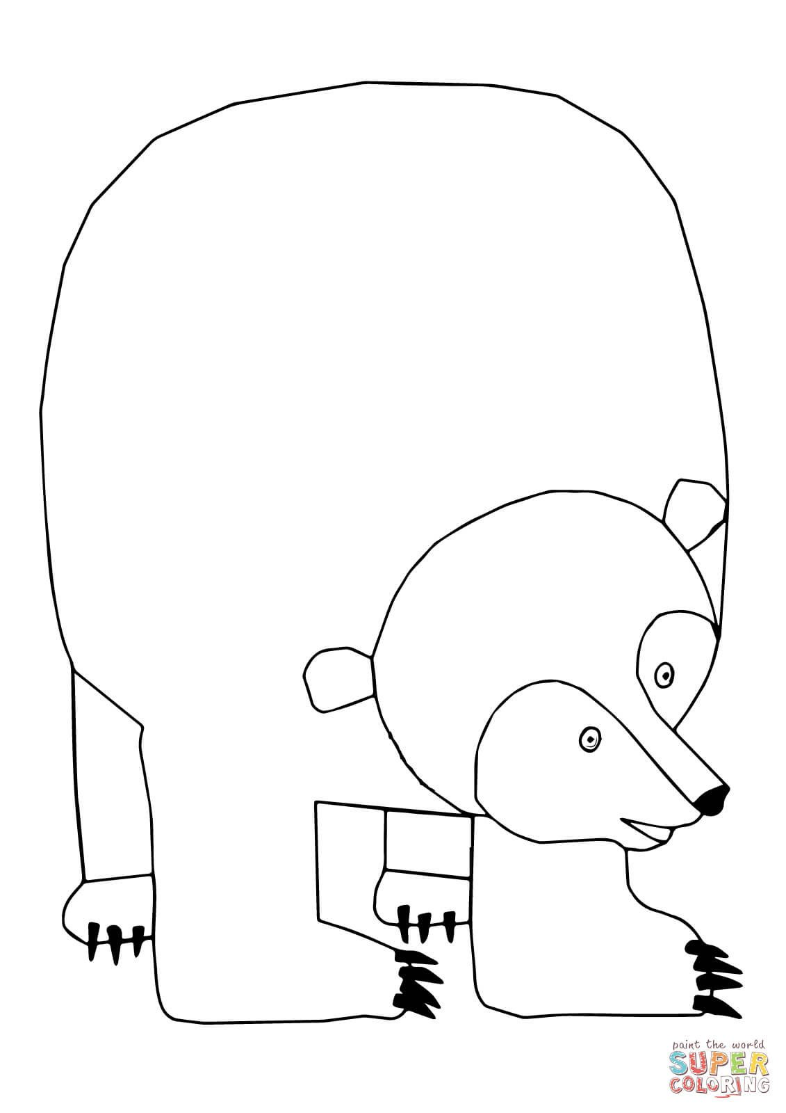 Brown Bear Brown Bear Worksheets Brown Bear Brown Bear What Do You See Coloring Page