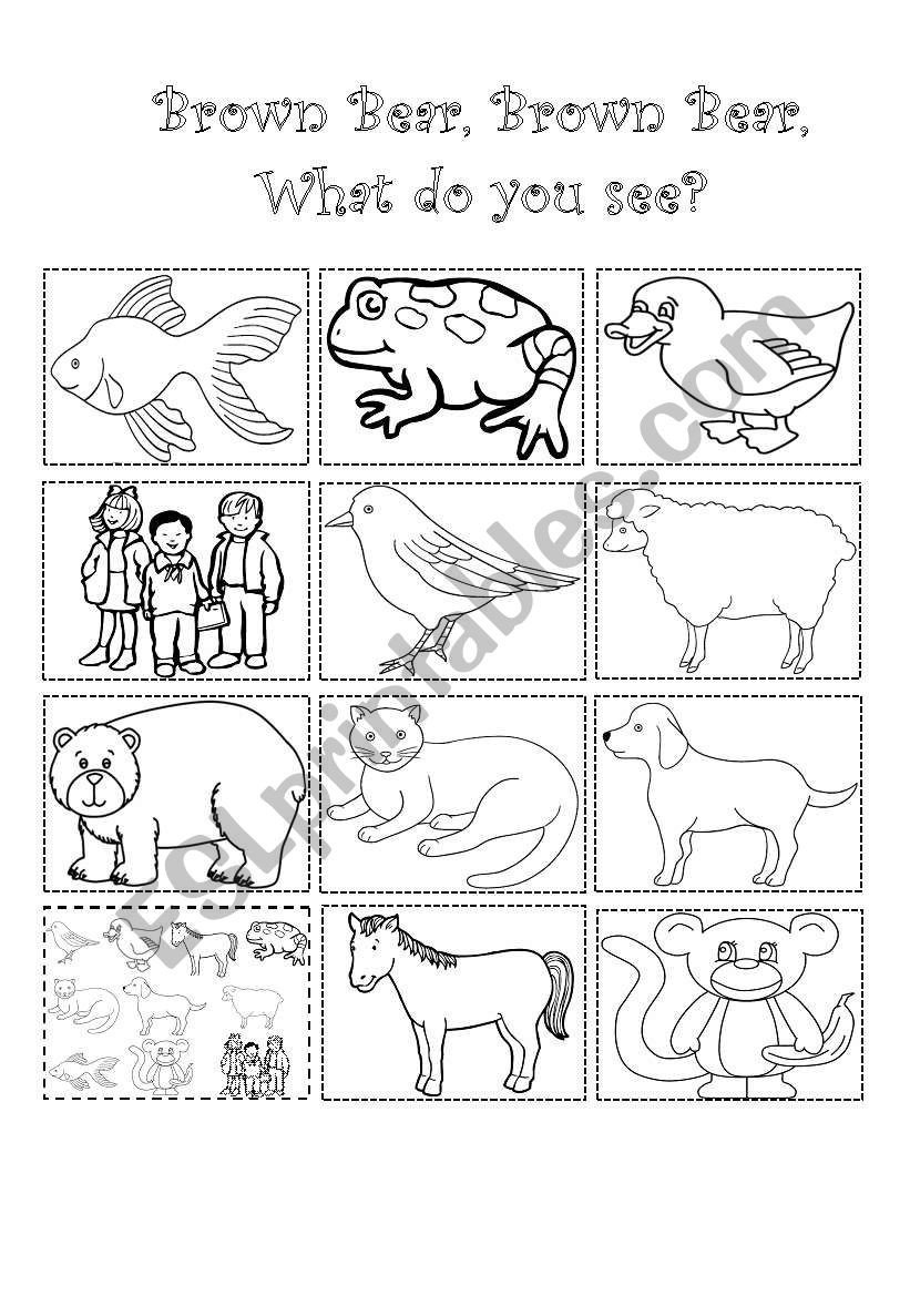 Brown Bear Brown Bear Worksheets Brown Bear Brown Bear What Do You See Esl Worksheet by