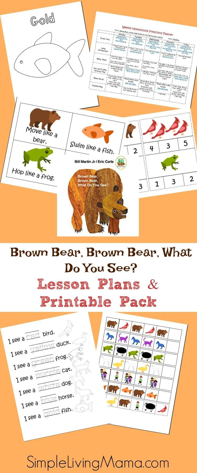 Brown Bear Brown Bear Worksheets Brown Bear Brown Bear What Do You See Preschool Lesson