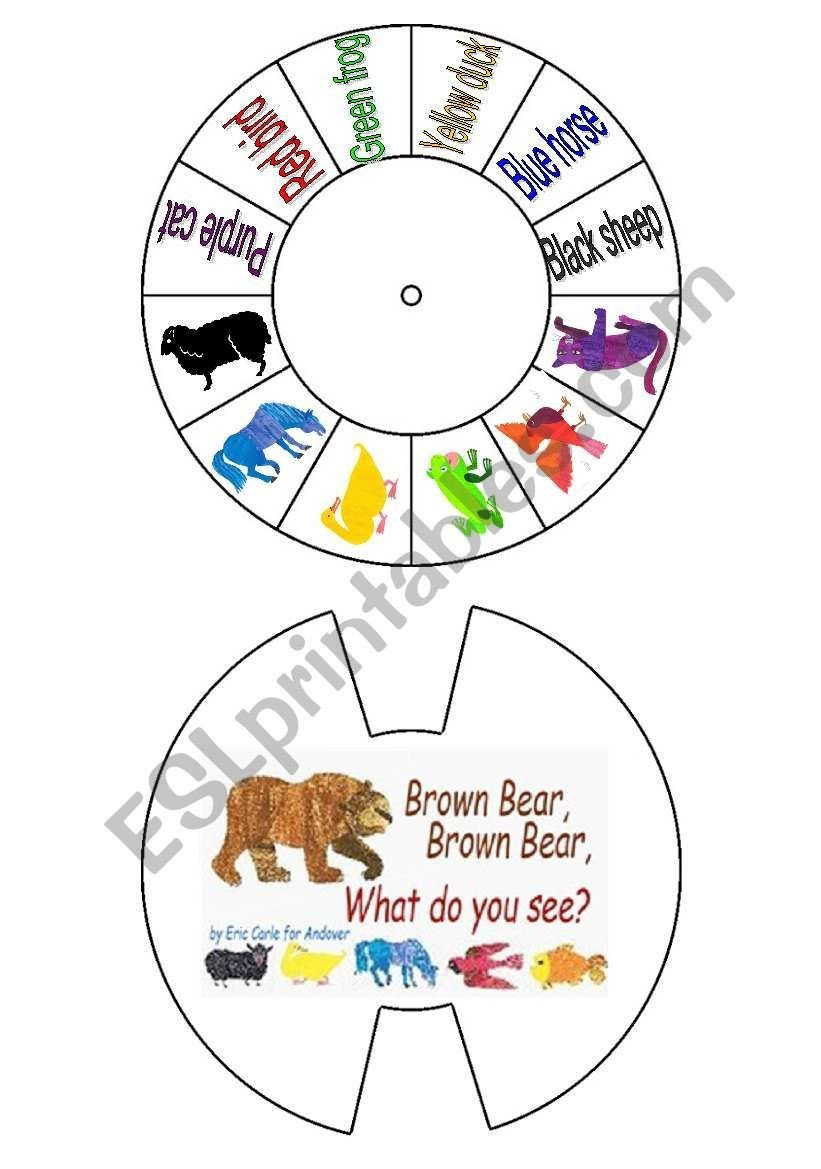 Brown Bear Brown Bear Worksheets Brown Bear What Do You See Esl Worksheet by Annaas