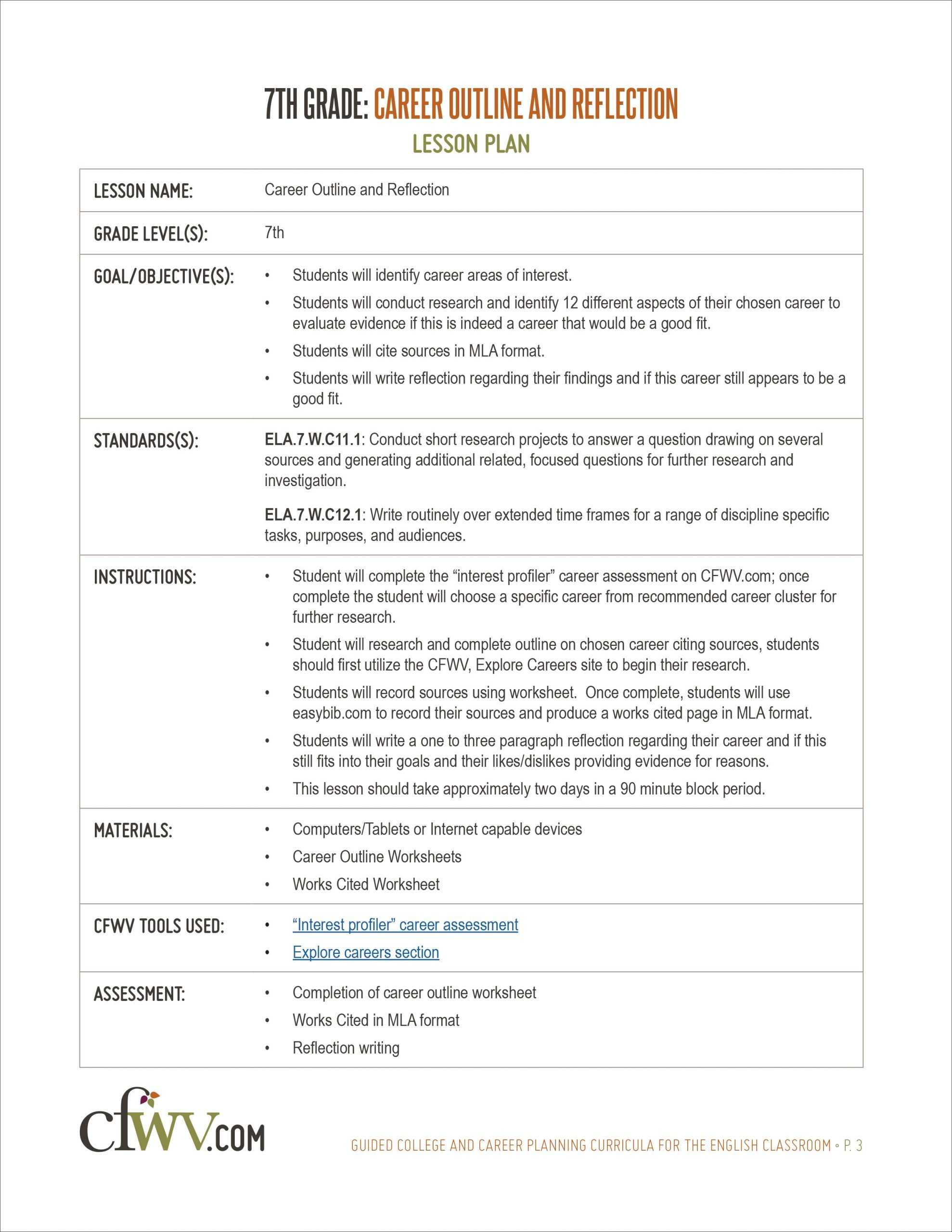 Career Worksheets for Middle School College and Career Planning English Curriculum toolkit