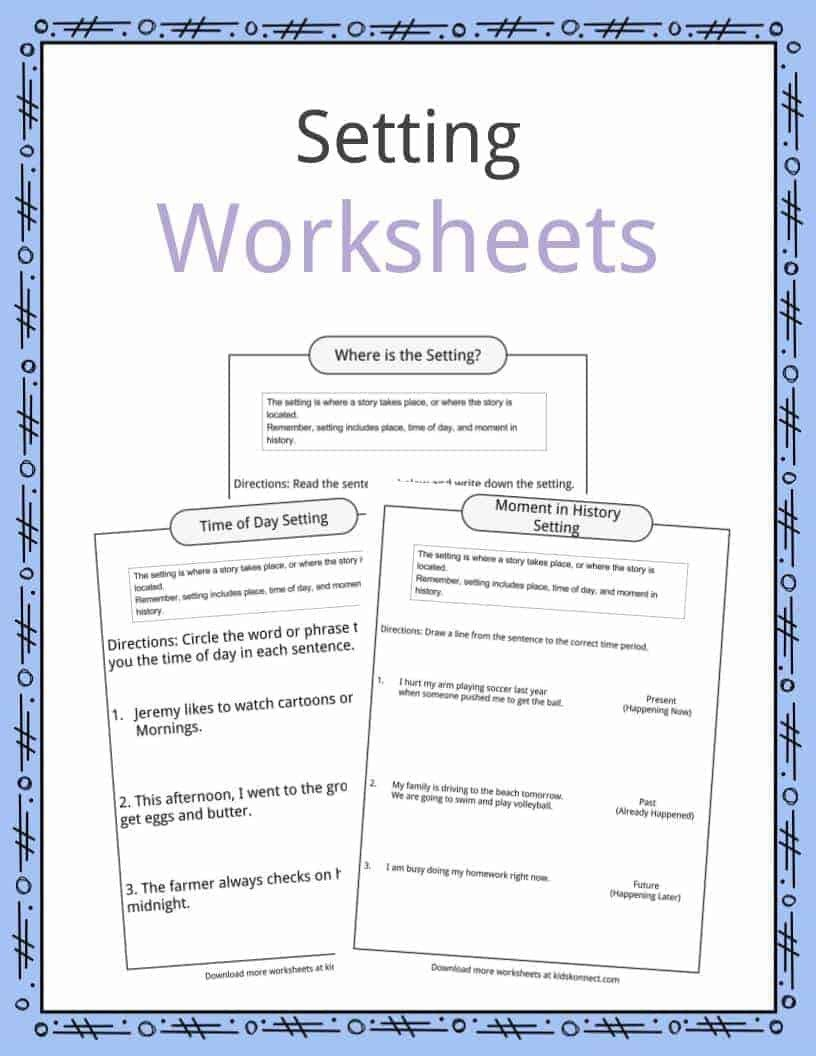 Character and Setting Worksheets Story Setting Examples Definition & Worksheets for Kids