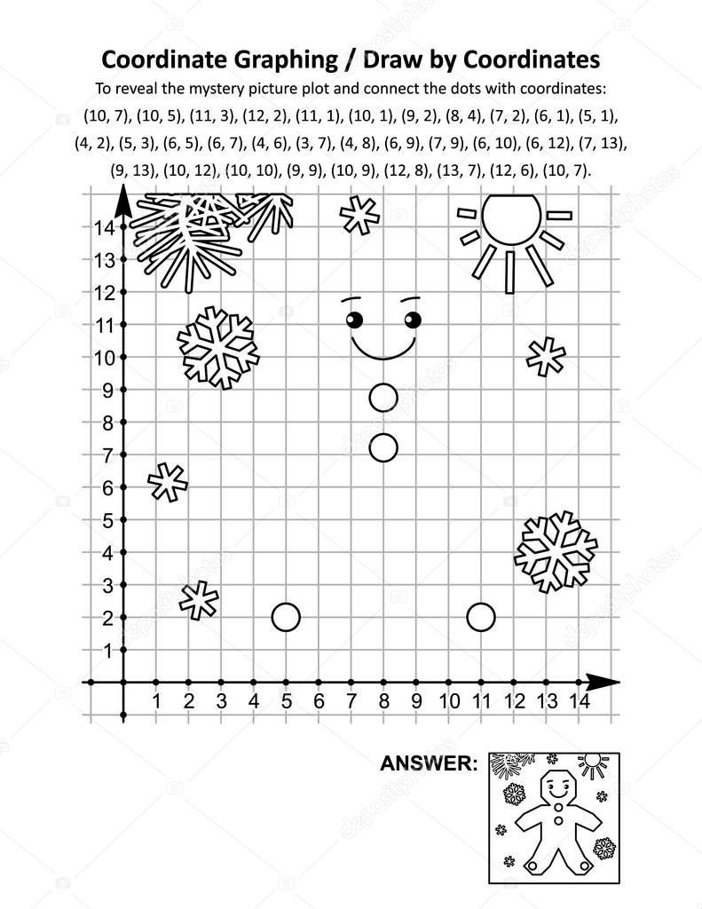 Christmas Coordinates Worksheets ✅ Coordinate Graphing or Draw by Coordinates Math