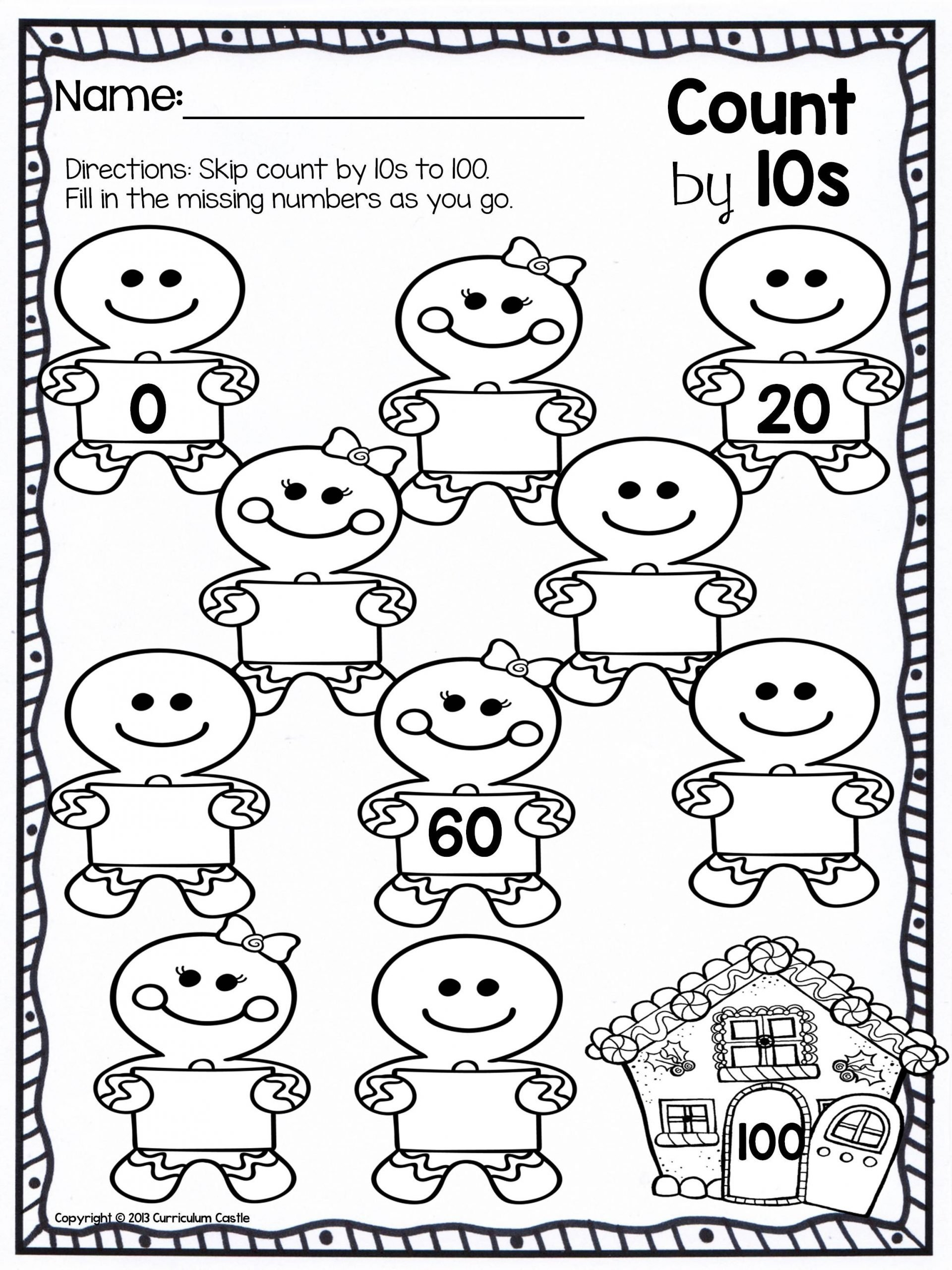 Christmas Counting Worksheets Kindergarten Christmas Skip Counting Freebie