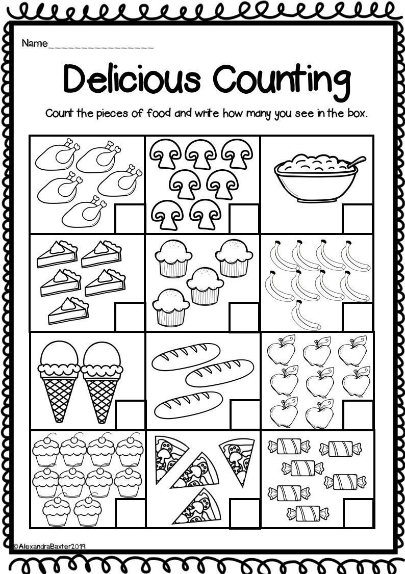 Christmas Counting Worksheets Kindergarten Counting to 10 Worksheets for Kindergarten Distance