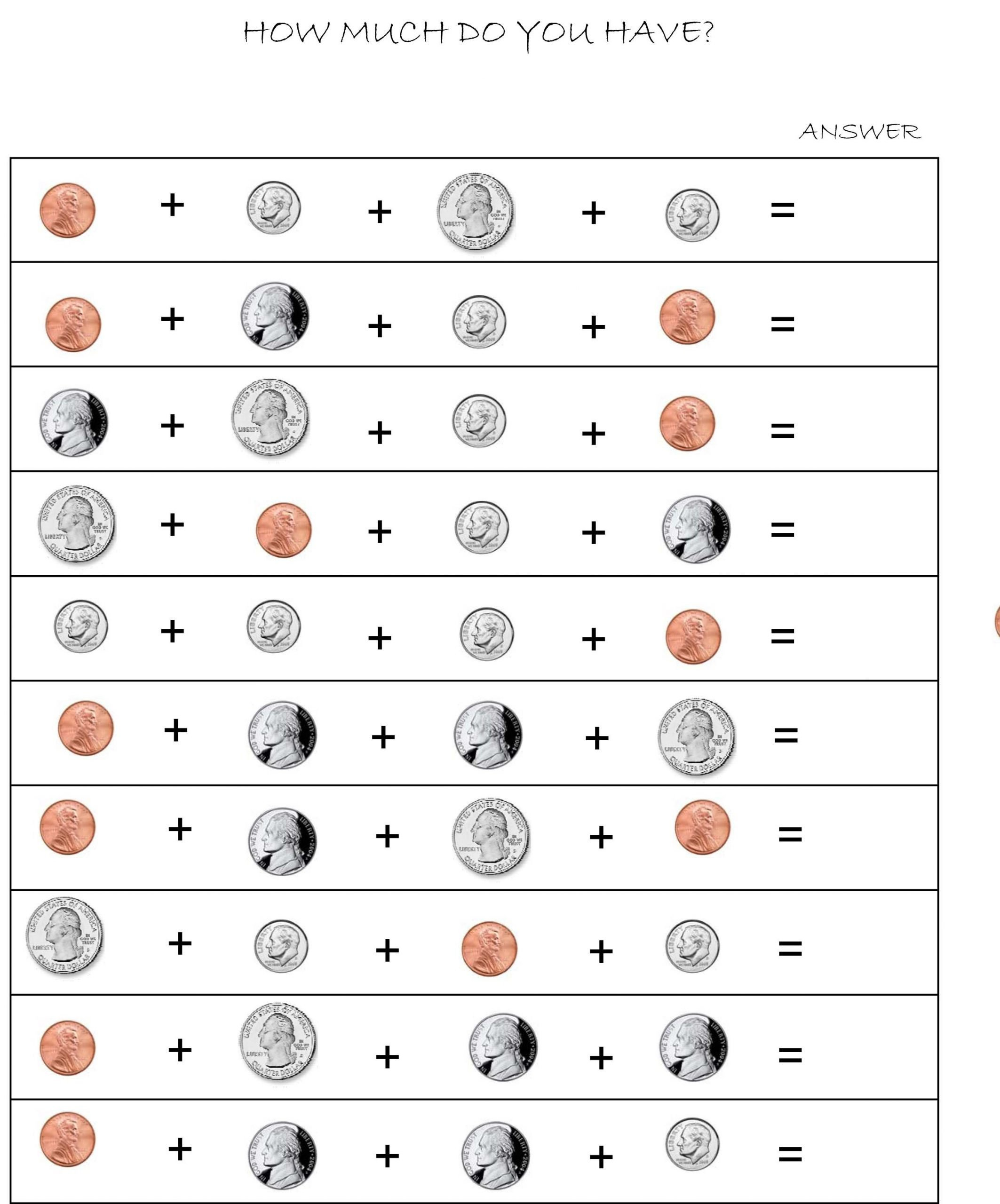 Coin Worksheets First Grade 20 Coin Worksheets First Grade