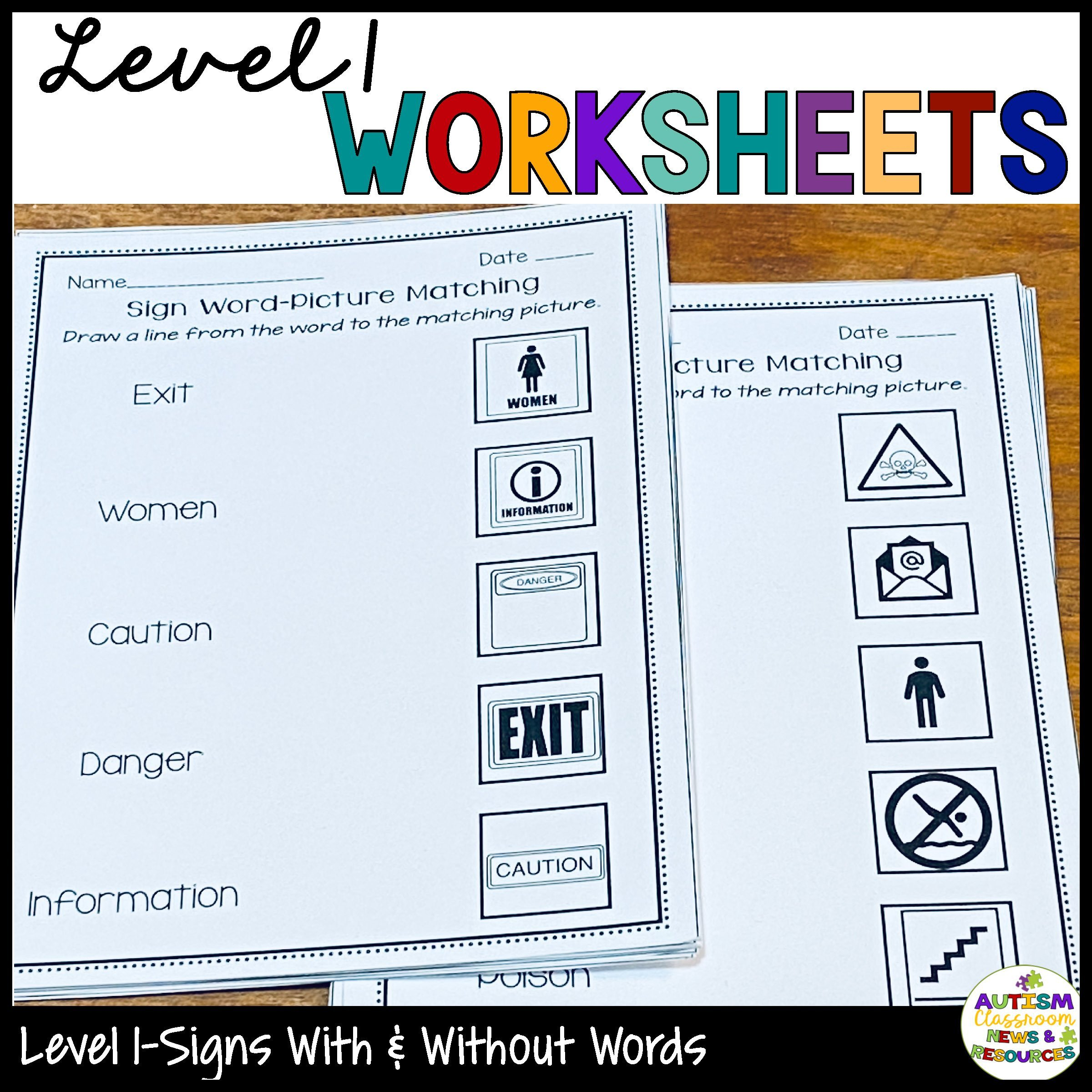 Community Signs Worksheets Functional Literacy Worksheets Reading Prehension Of