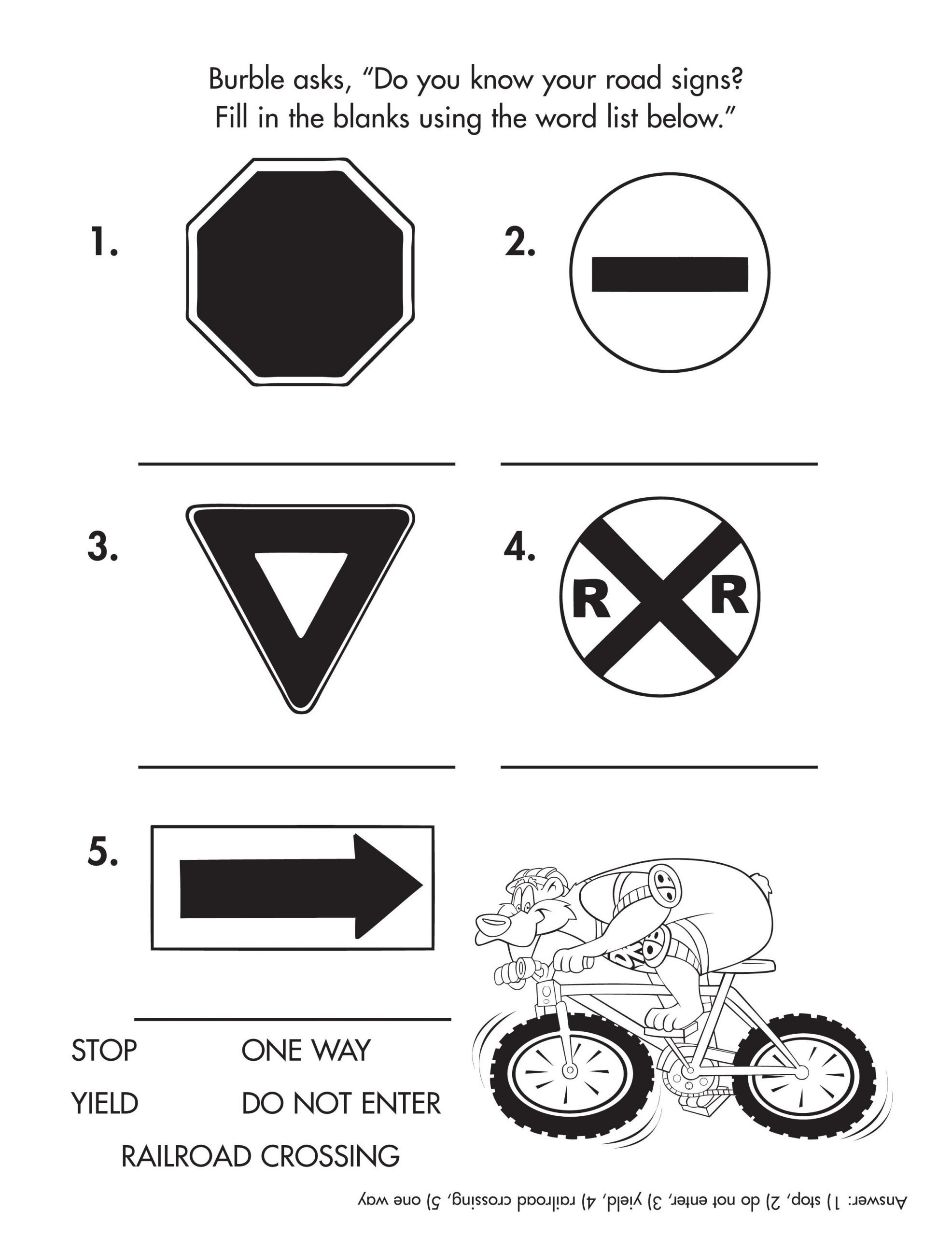 Community Signs Worksheets Pin by Mighty Kids Media On Coloring and Activity Sheets