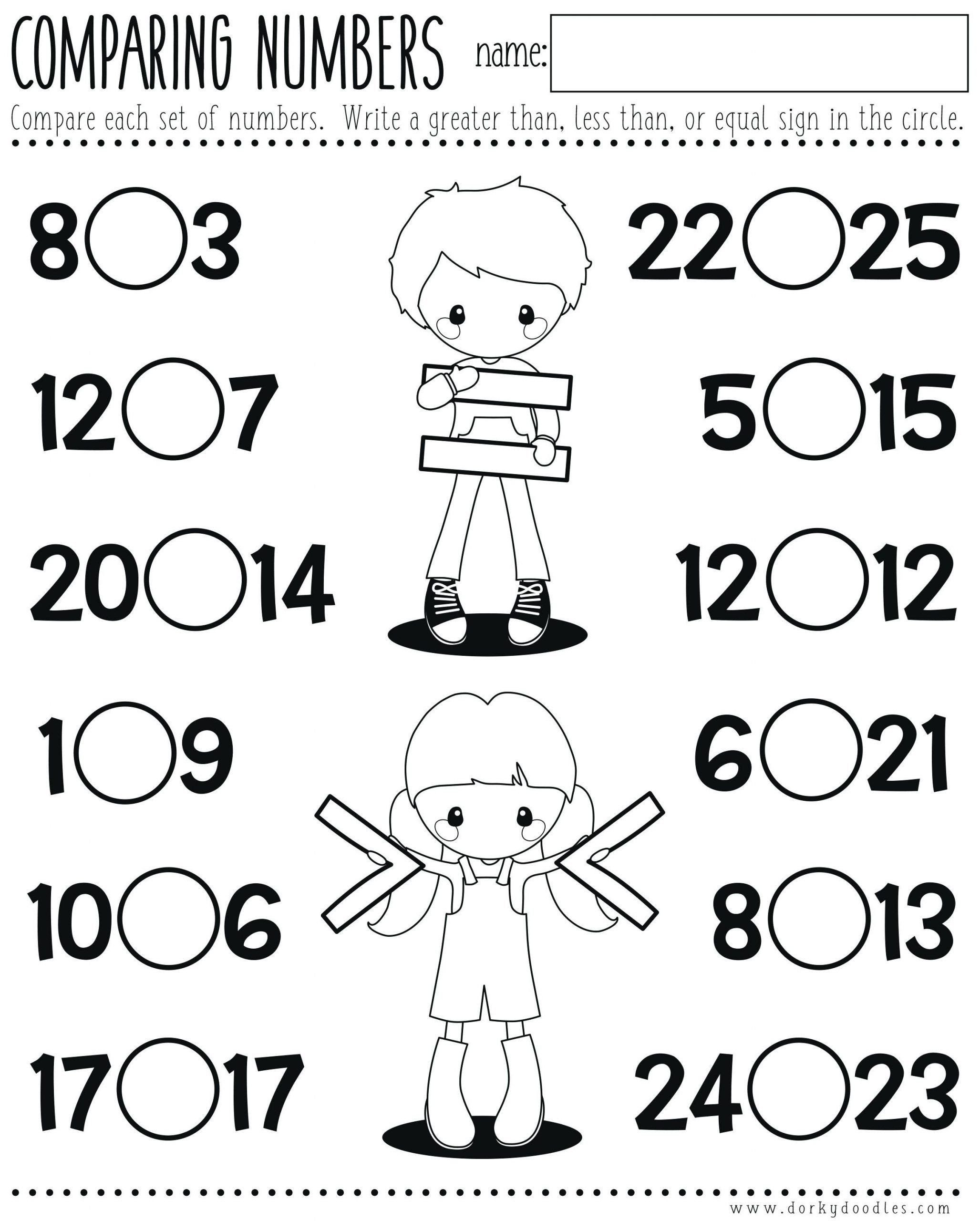Comparing Quantities Worksheets Paring Quantities Kindergarten Worksheets