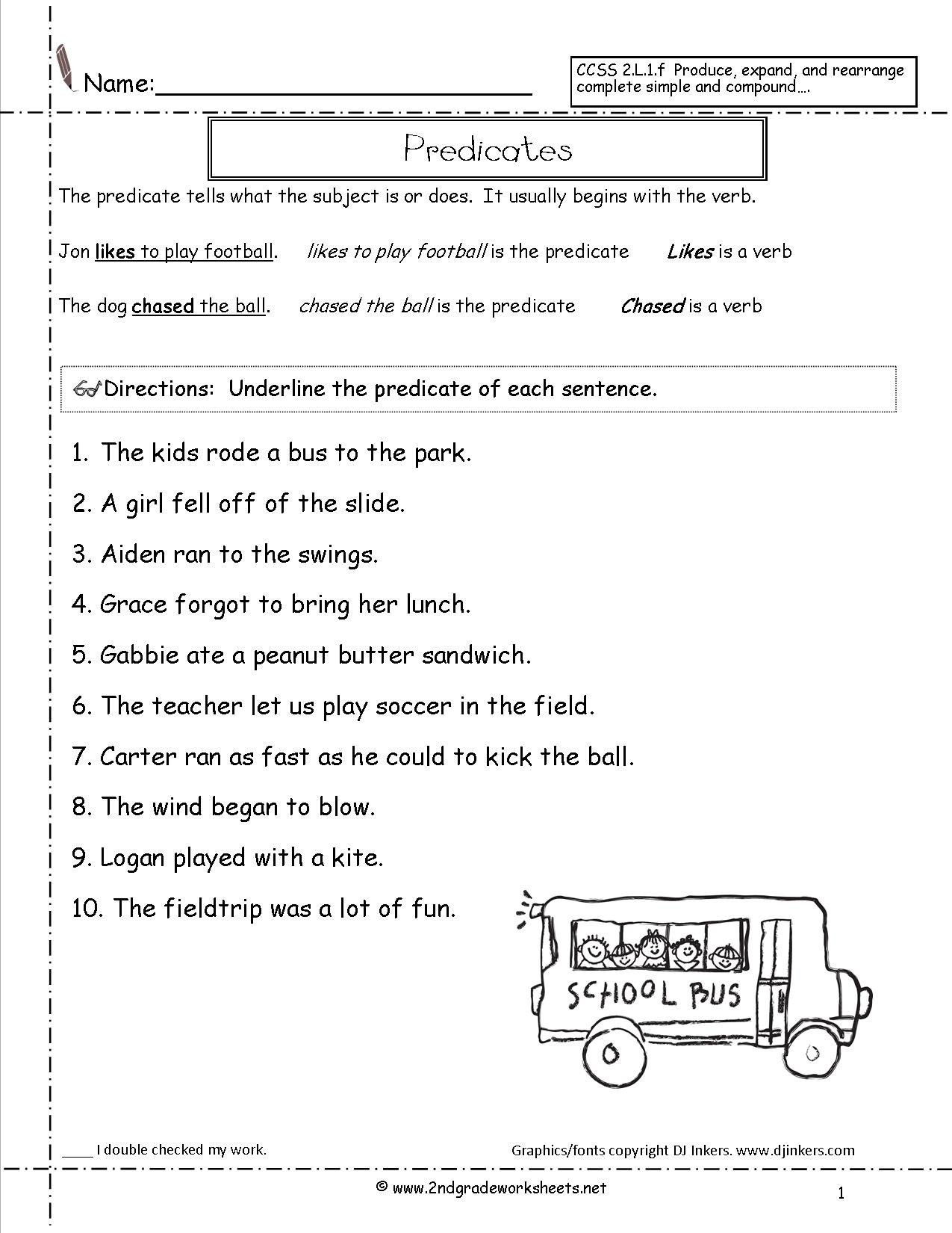 Complete Sentence Worksheet 3rd Grade Worksheet Secondade Sentences Worksheets Ccss L