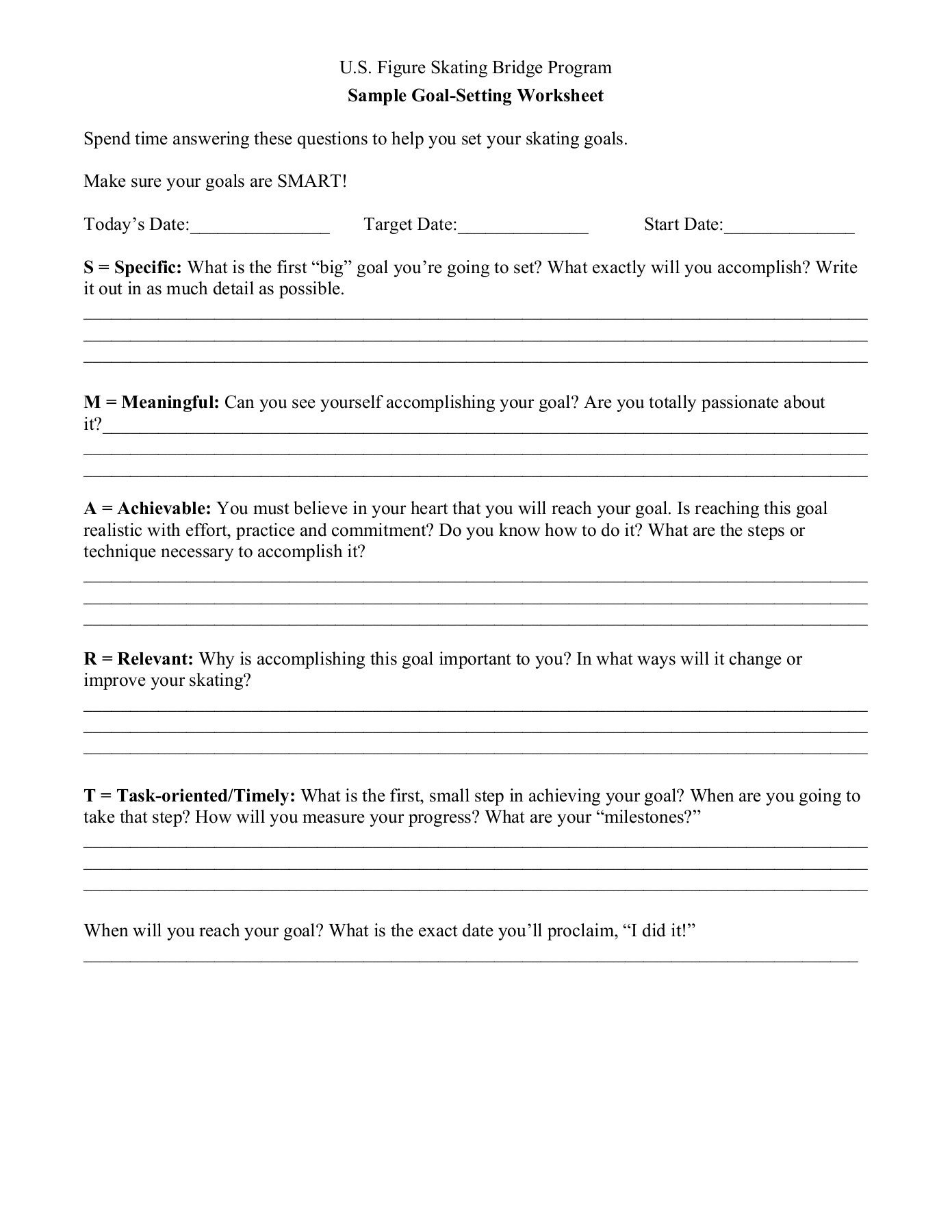 Confidence Building Worksheets Goal Setting and Self Confidence Worksheets Pdf Pages 1 4