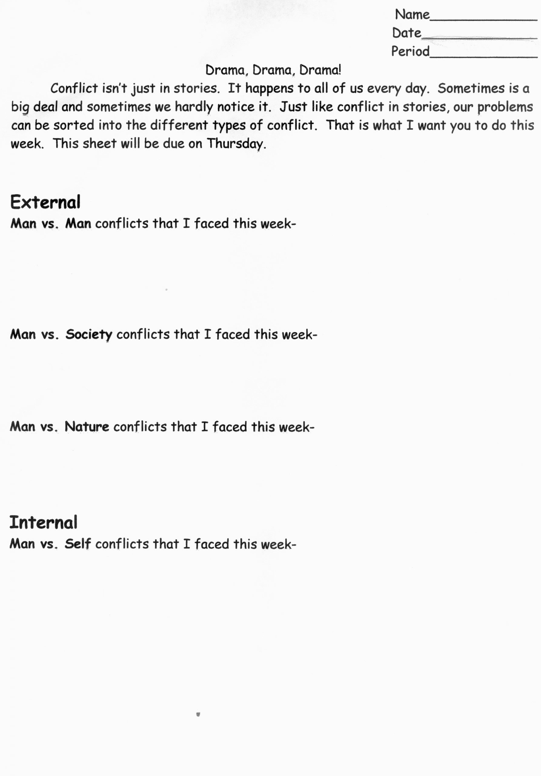 Conflict Resolution Worksheets for Students 6th Grade Lessons Middle School Language Arts Help