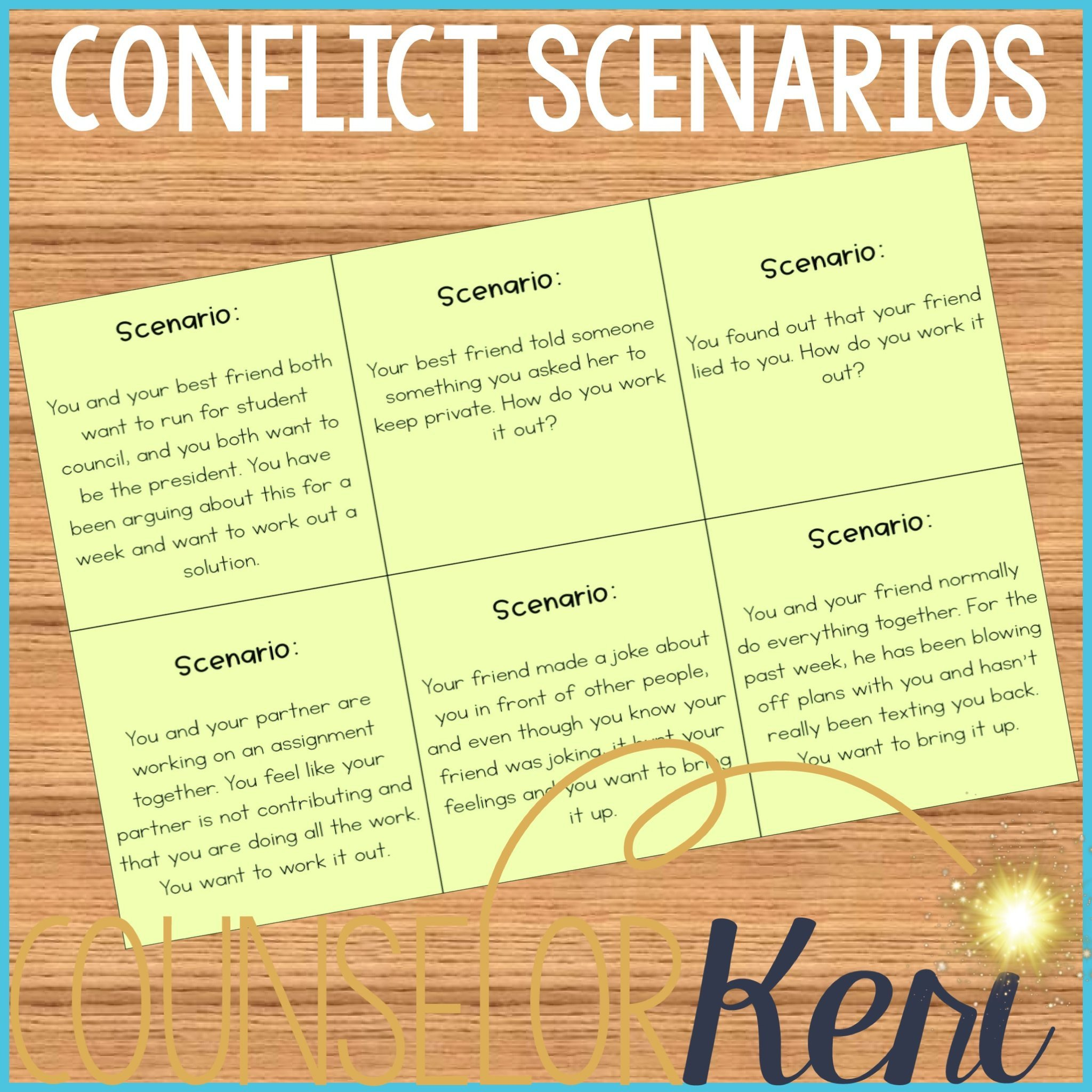 Conflict Resolution Worksheets for Students Conflict Resolution Activity Resolving Conflicts Classroom