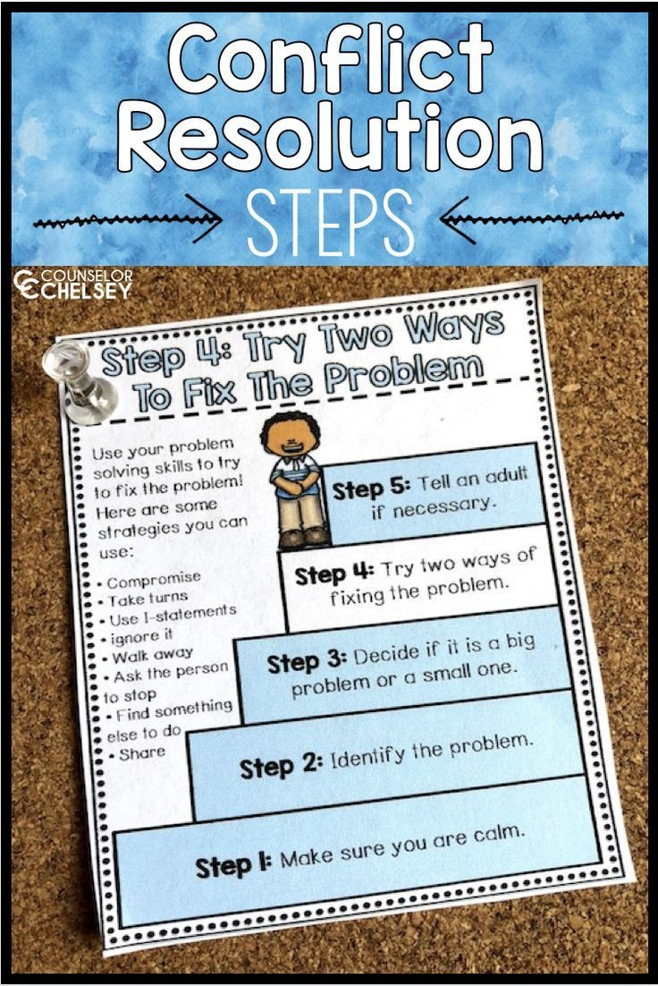 Conflict Resolution Worksheets for Students Conflict Resolution Worksheets and Posters — Counselor