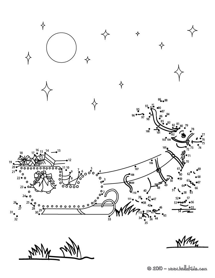 Connect the Dots Christmas Worksheets Christmas Dot to Dot 24 Free Dot to Dot Printable