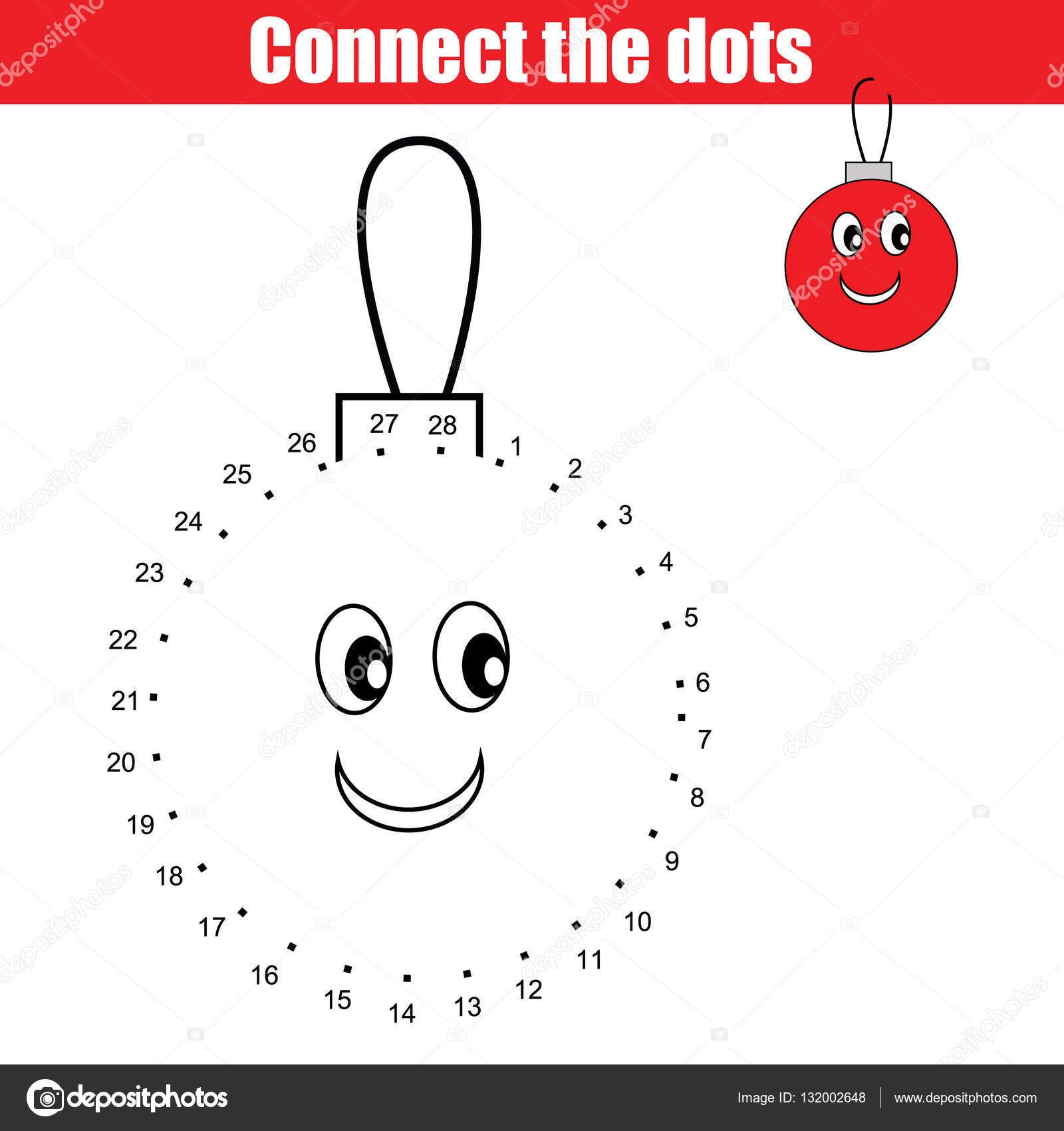 Connect the Dots Christmas Worksheets Connect the Dots Numbers Children Educational Game Printable Worksheet Activity Christmas Winter Holidays theme