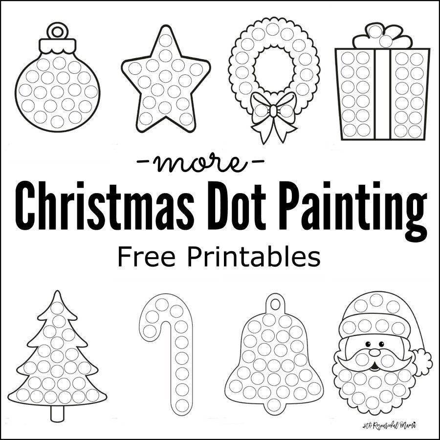 Connect the Dots Christmas Worksheets More Christmas Dot Painting Free Printables the