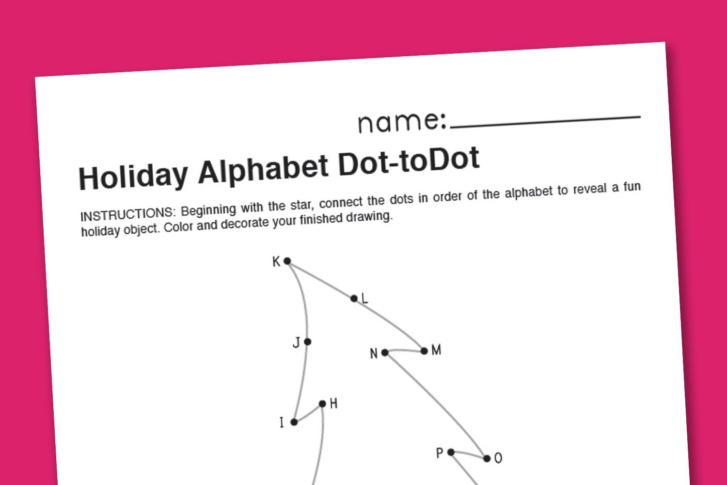 Connect the Dots Christmas Worksheets Worksheet Christmas Dot to Dot Printables