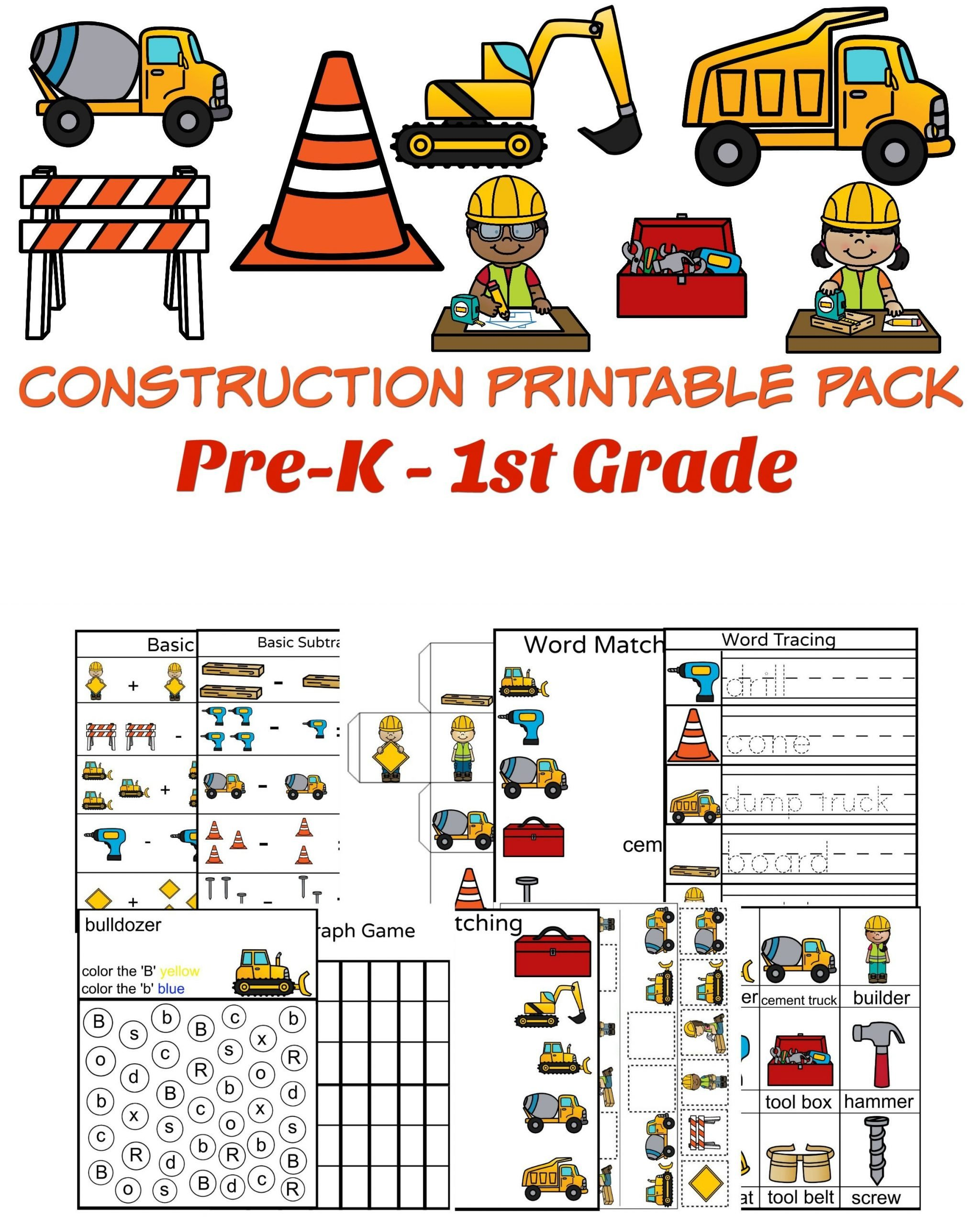 Construction Math Worksheets Free Construction Printable with Basic Math with Pictures