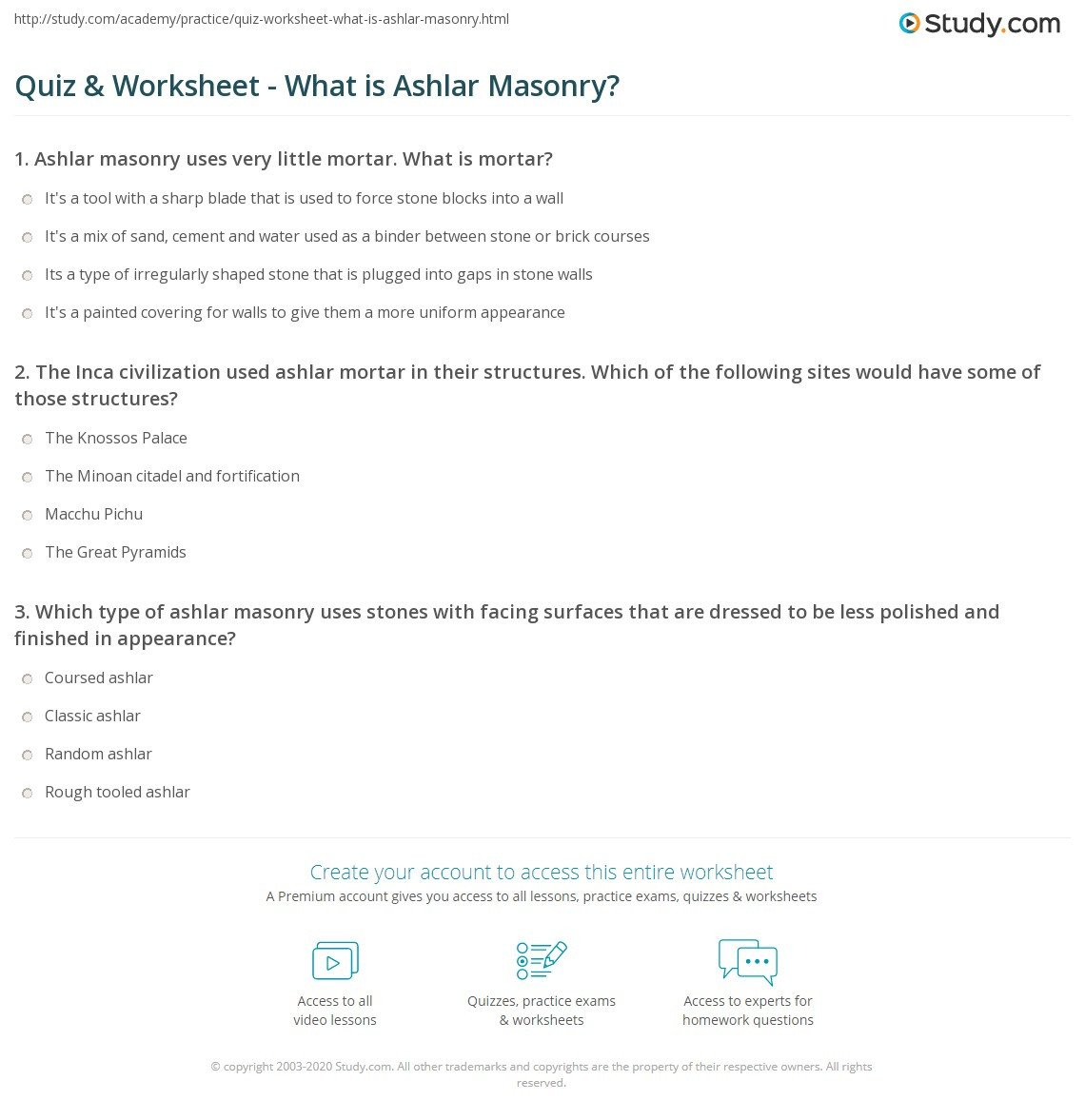 Construction Math Worksheets Masonry Math Worksheet