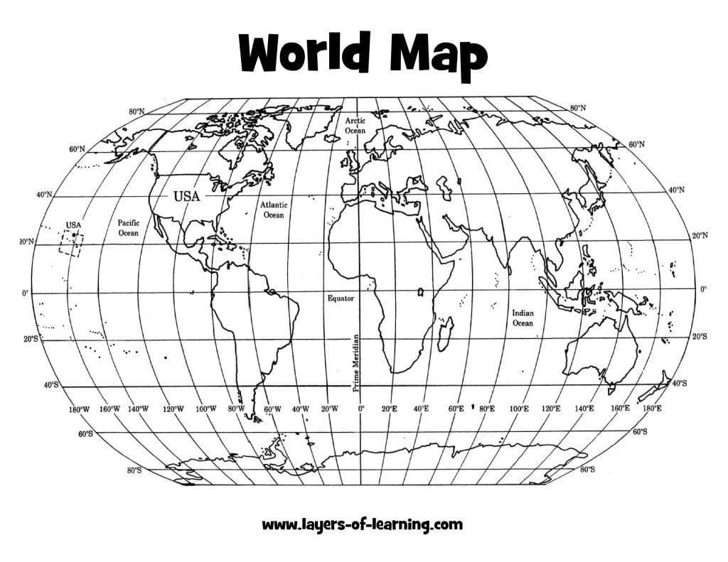Coordinate Grid Map Worksheets A Grid On Our Earth An Exploration On Map Grids Layers Of