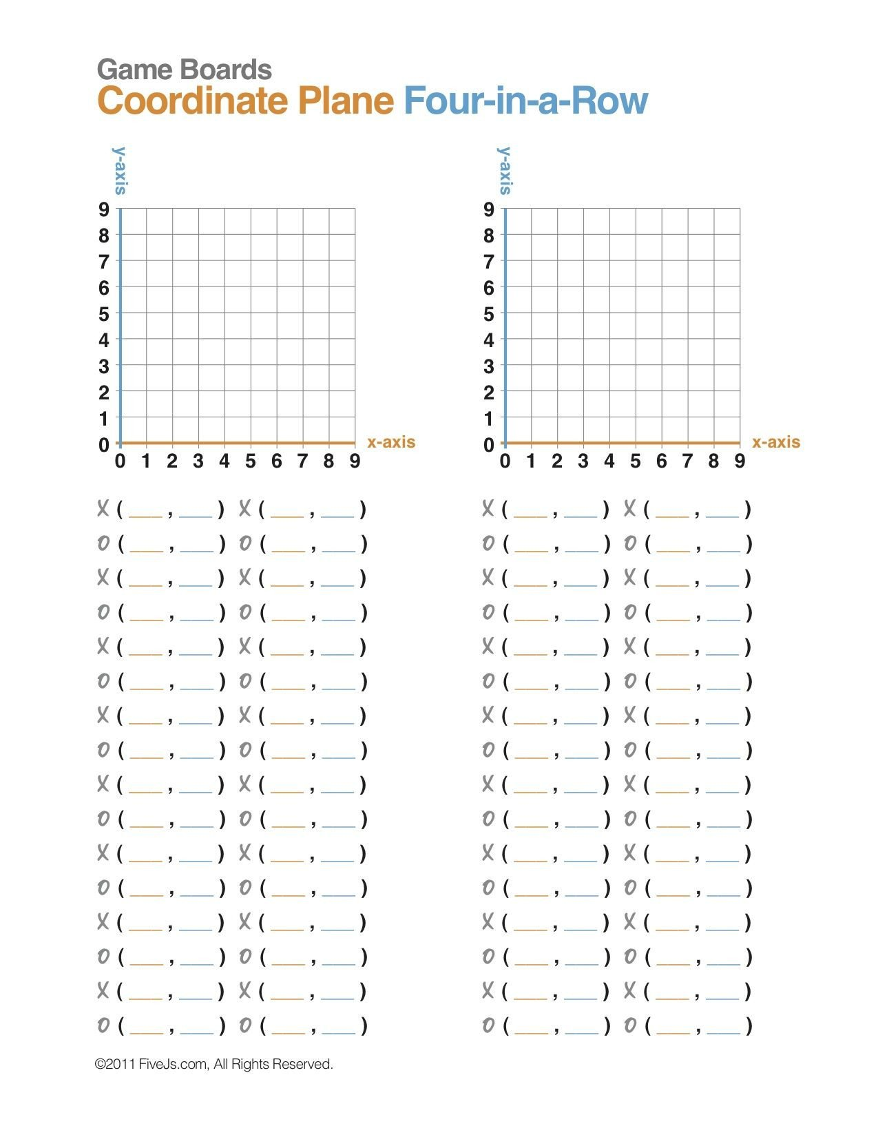 Coordinate Grid Map Worksheets Coordinate Plane Math Game Free