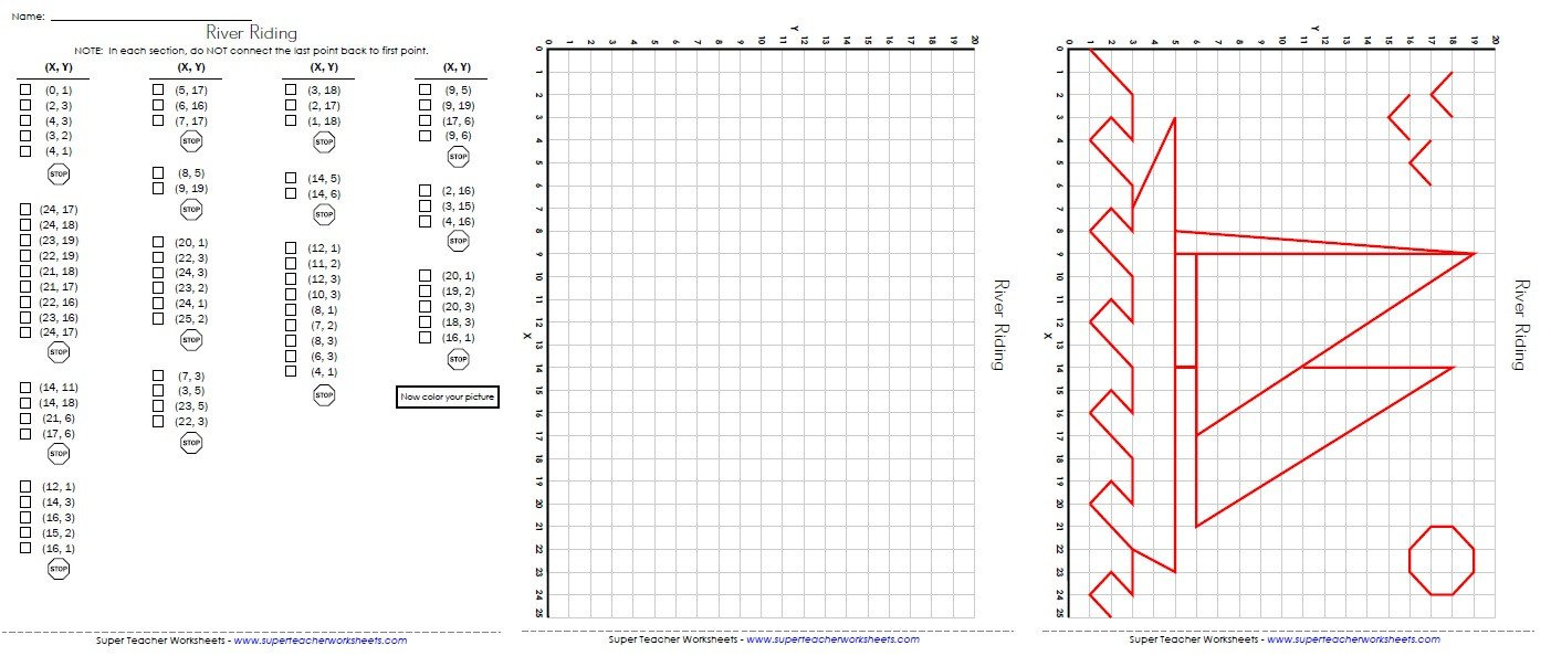 Coordinate Grid Map Worksheets ordered Pairs and Coordinate Plane Worksheets