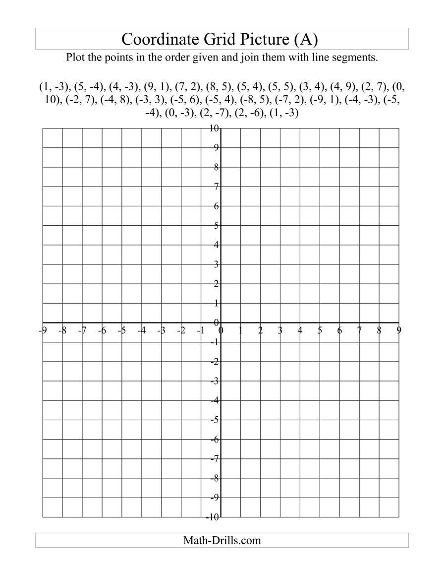 Coordinate Grid Map Worksheets the Plotting Coordinate Points Art Red Maple Leaf A
