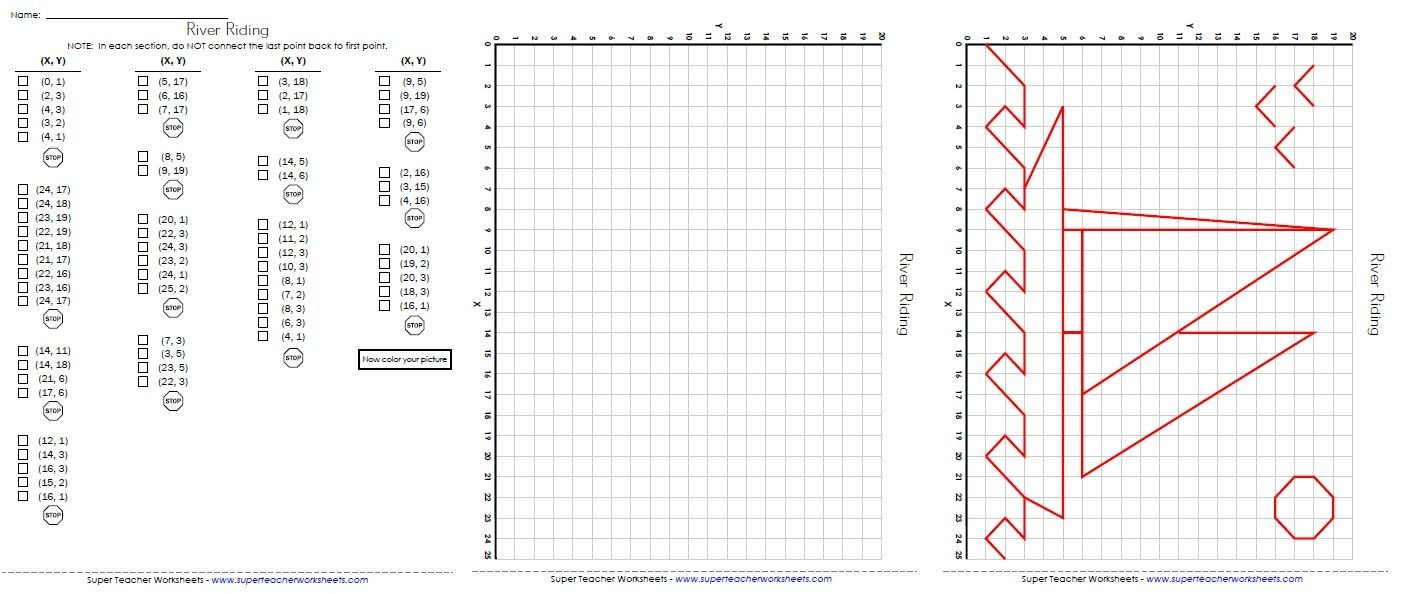 Coordinate Plane Worksheets Middle School Practice Plotting ordered Pairs On A Coordinate Grid to Make