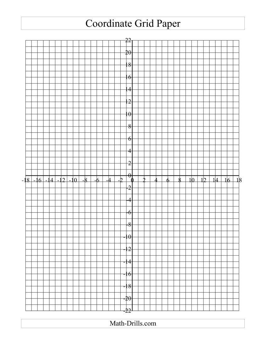 Coordinate Plane Worksheets Pdf Graph Paper