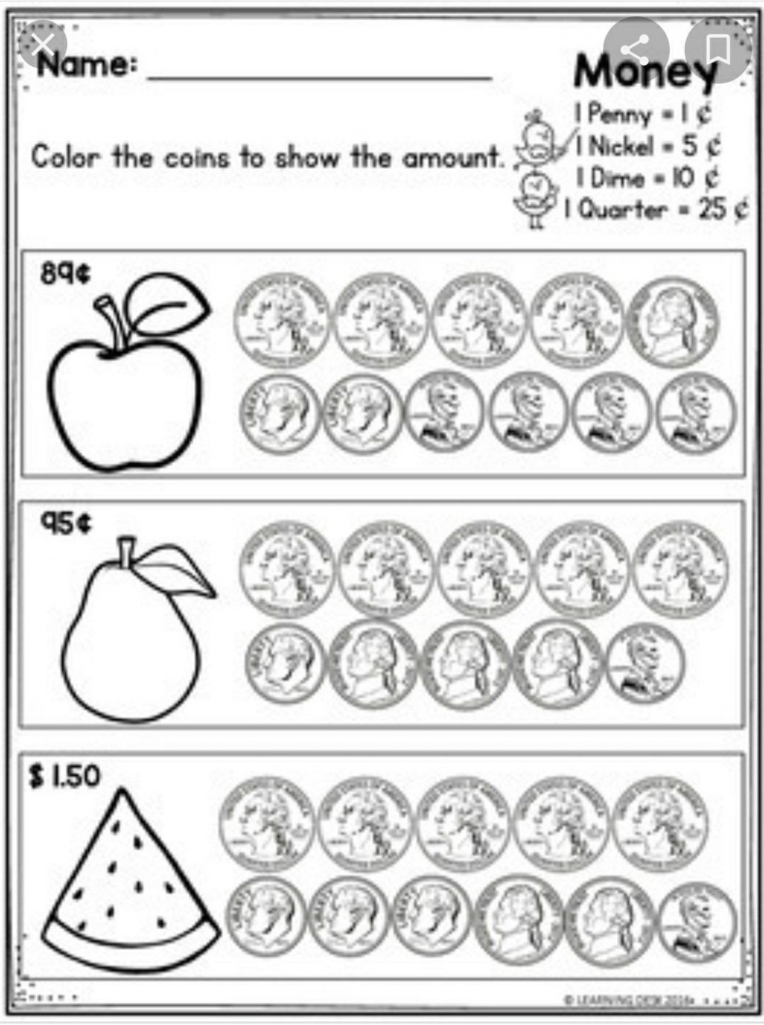 Counting Coins Worksheets 2nd Grade Pin by Jan Tanega On Math Worksheets In 2020