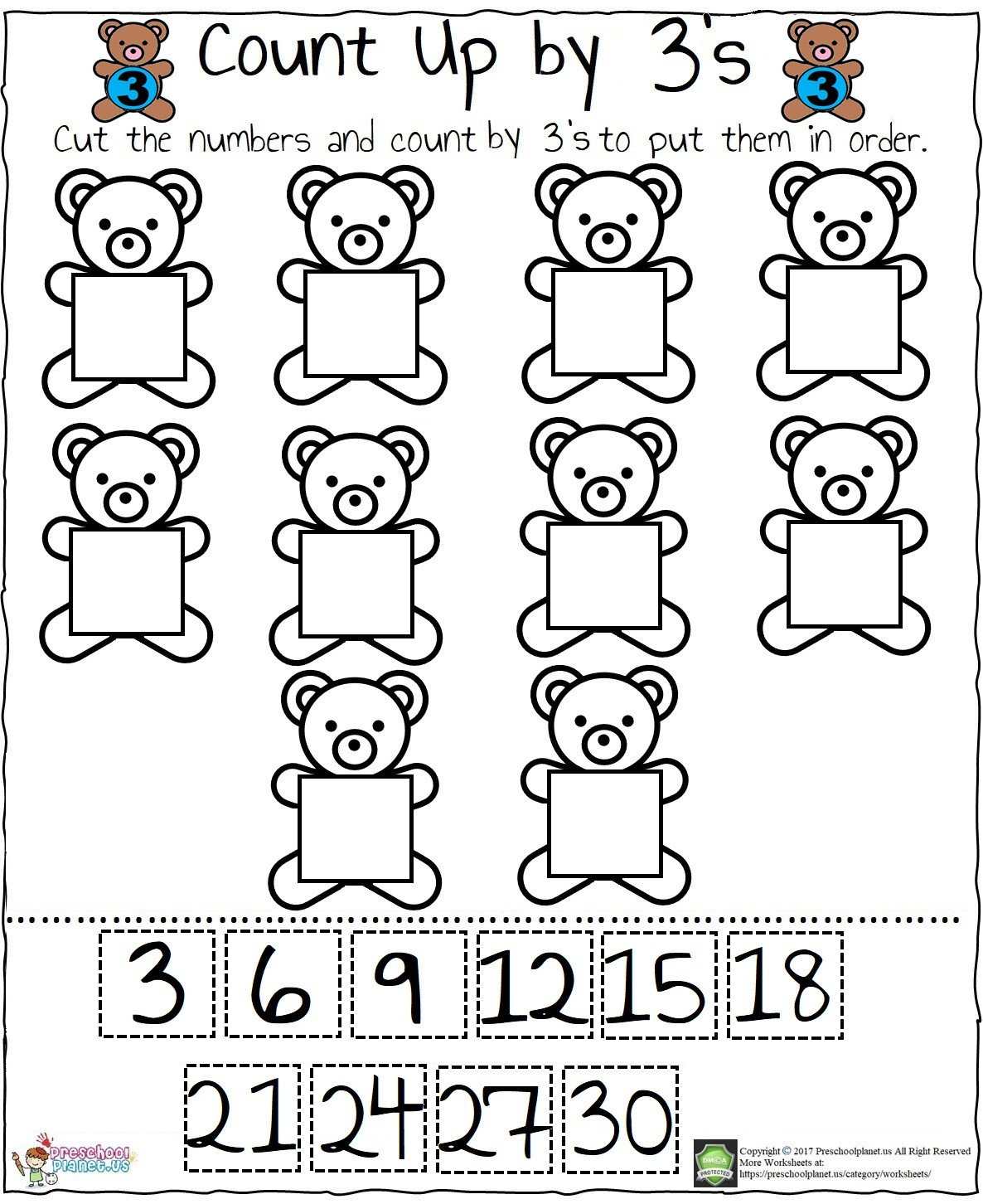Counting Worksheets Preschool Preschoolplanet – Preschool Craft Ideas and Worksheets