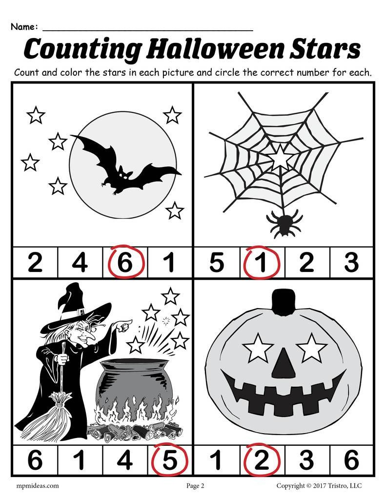 Halloween 20number 20count 20worksheet AnswerKey 1024x1024