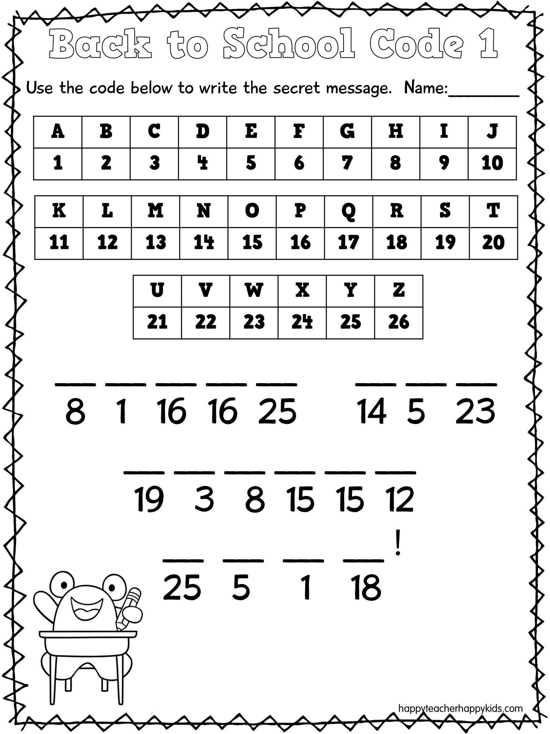 Crack the Code Math Worksheet 30 Math Secret Code Worksheets In 2020