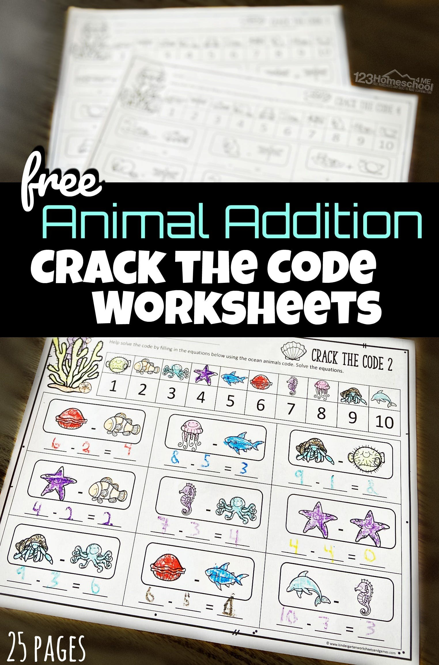 Cracking the Code Math Worksheets Math Crack the Code Worksheets