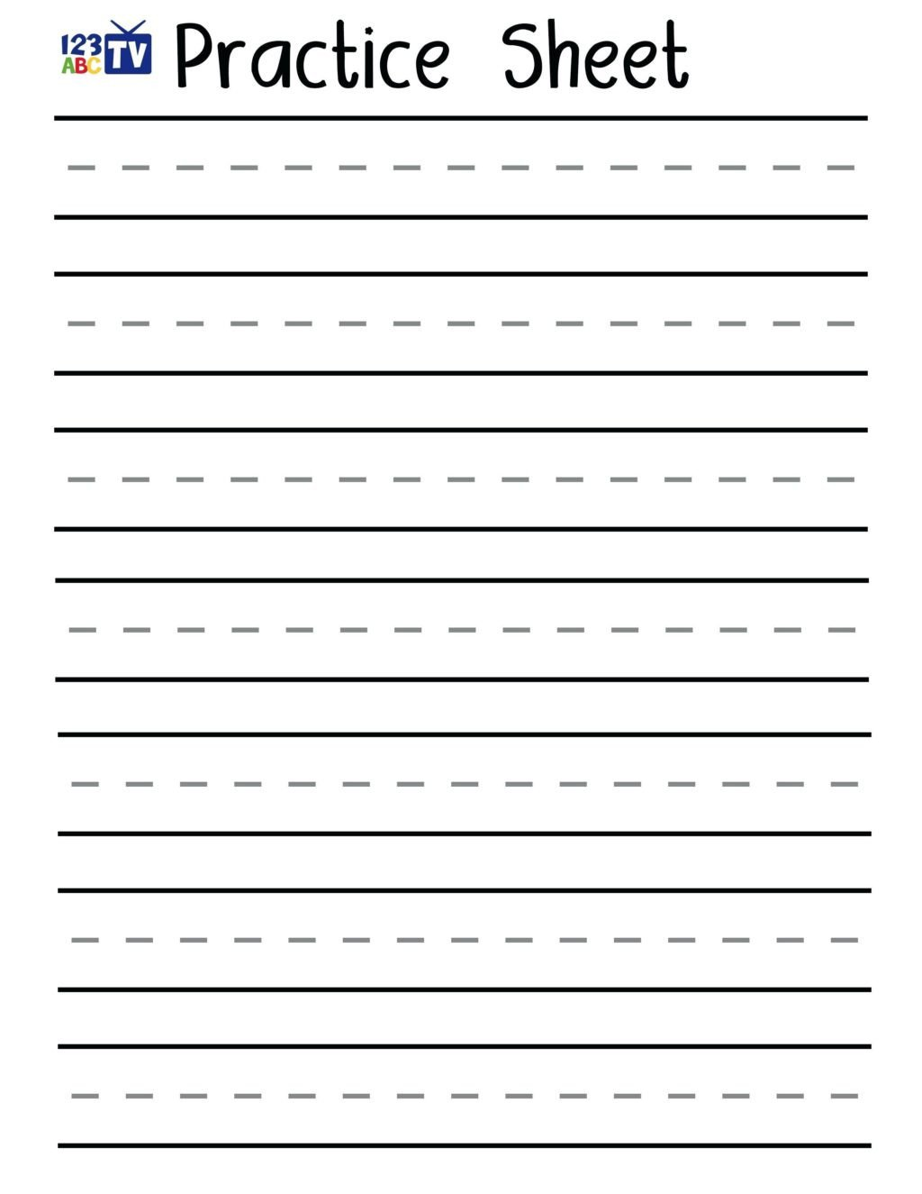 blank writingce sheets handwriting with lines to print out cursive worksheets sentences printable 1024x1325