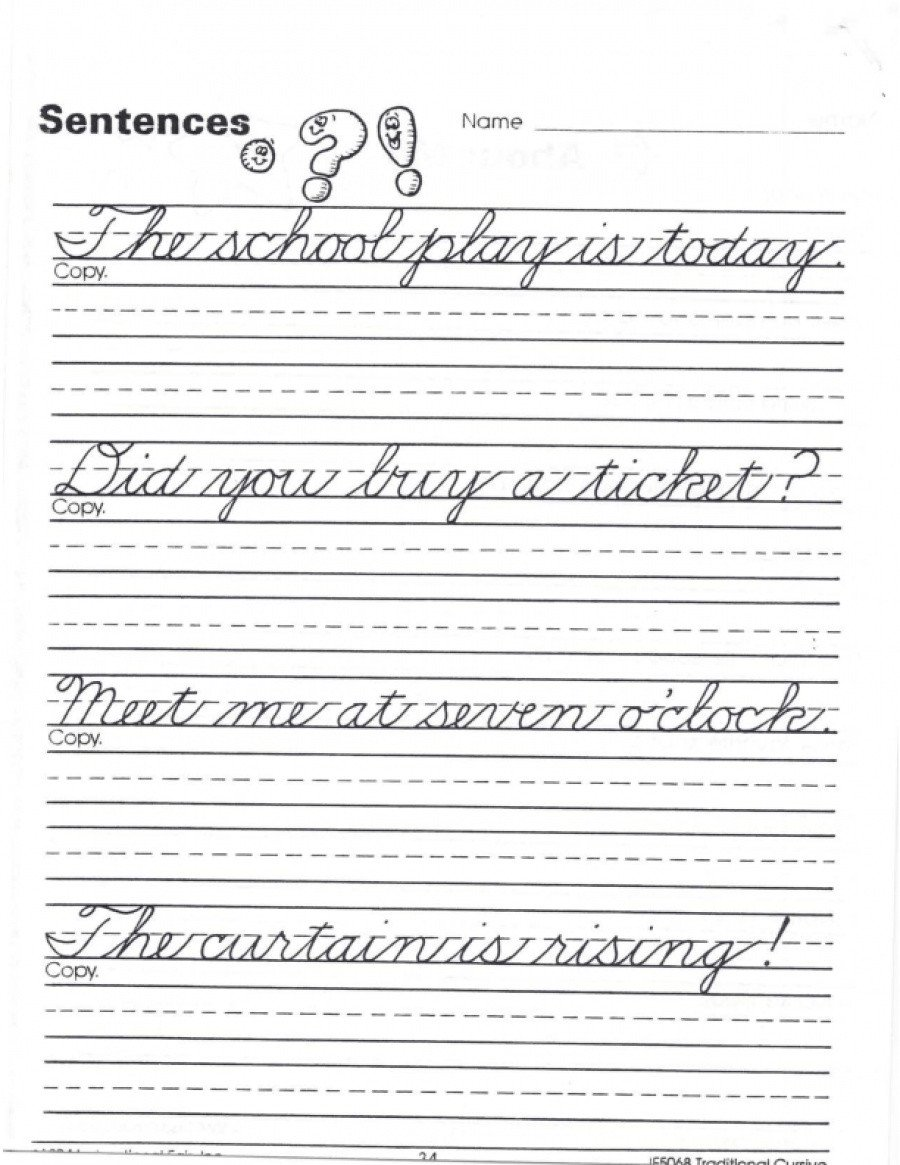 Cursive Sentence Worksheets Math Worksheet Outstanding Cursive Practice Sentences