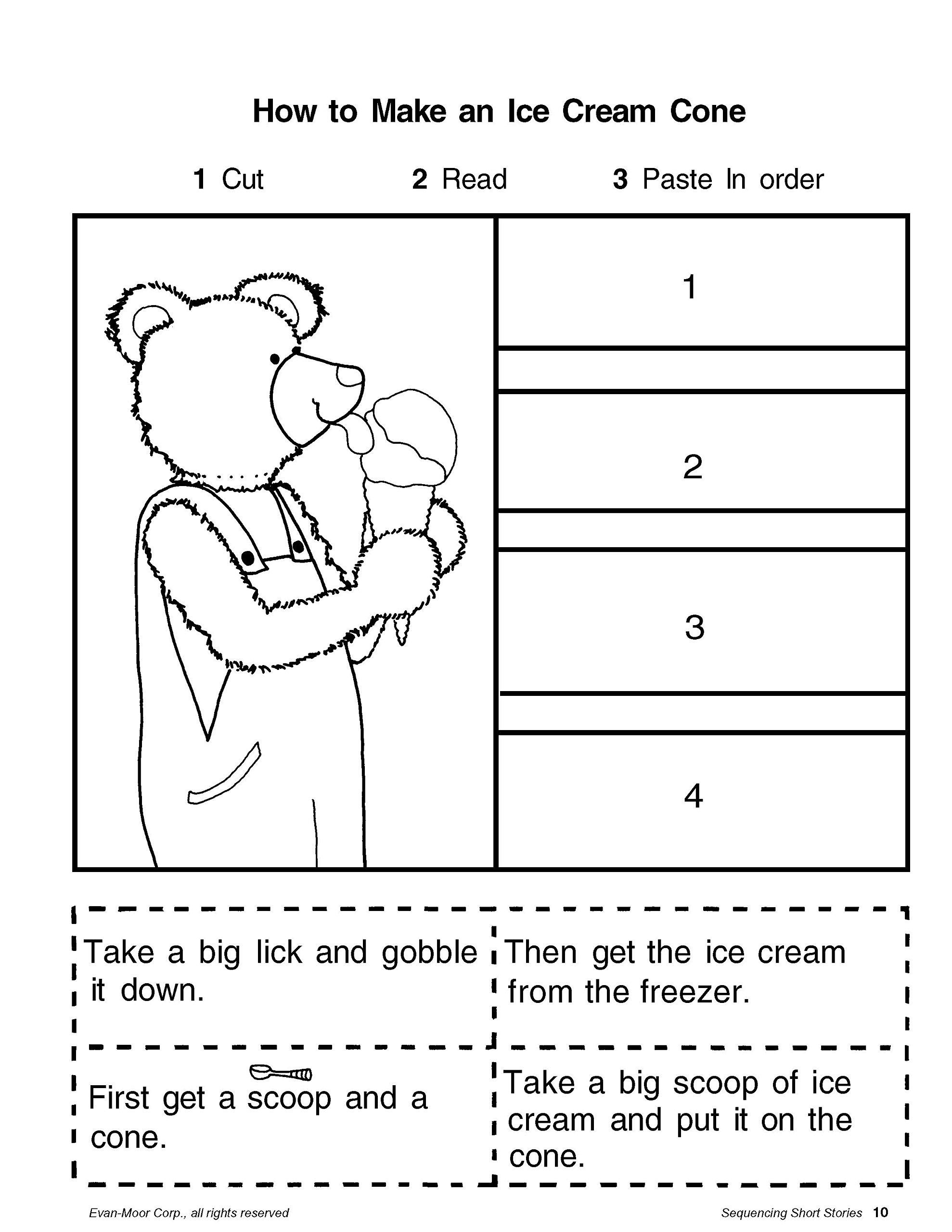 Cut and Paste Sequencing Worksheets Amazon Short Story Sequencing Grades 1 2 Teacher