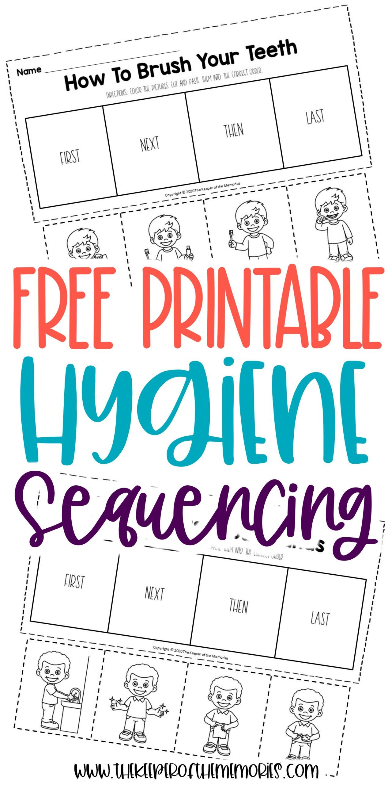 Cut and Paste Sequencing Worksheets Free Printable Preschool Sequencing Worksheets
