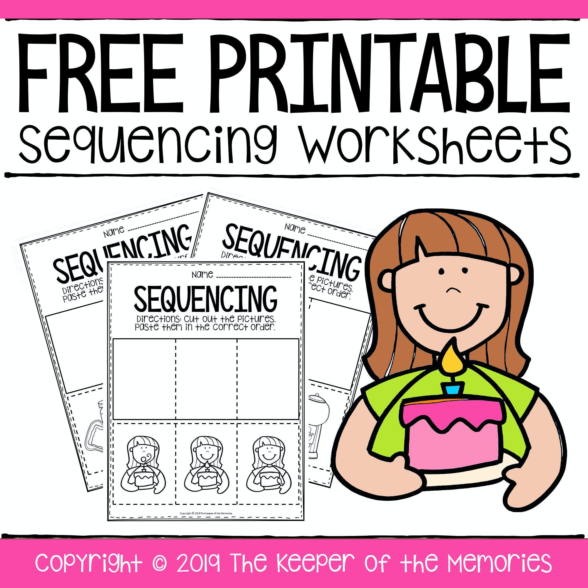Cut and Paste Sequencing Worksheets Free Printable Sequence Of events Worksheets