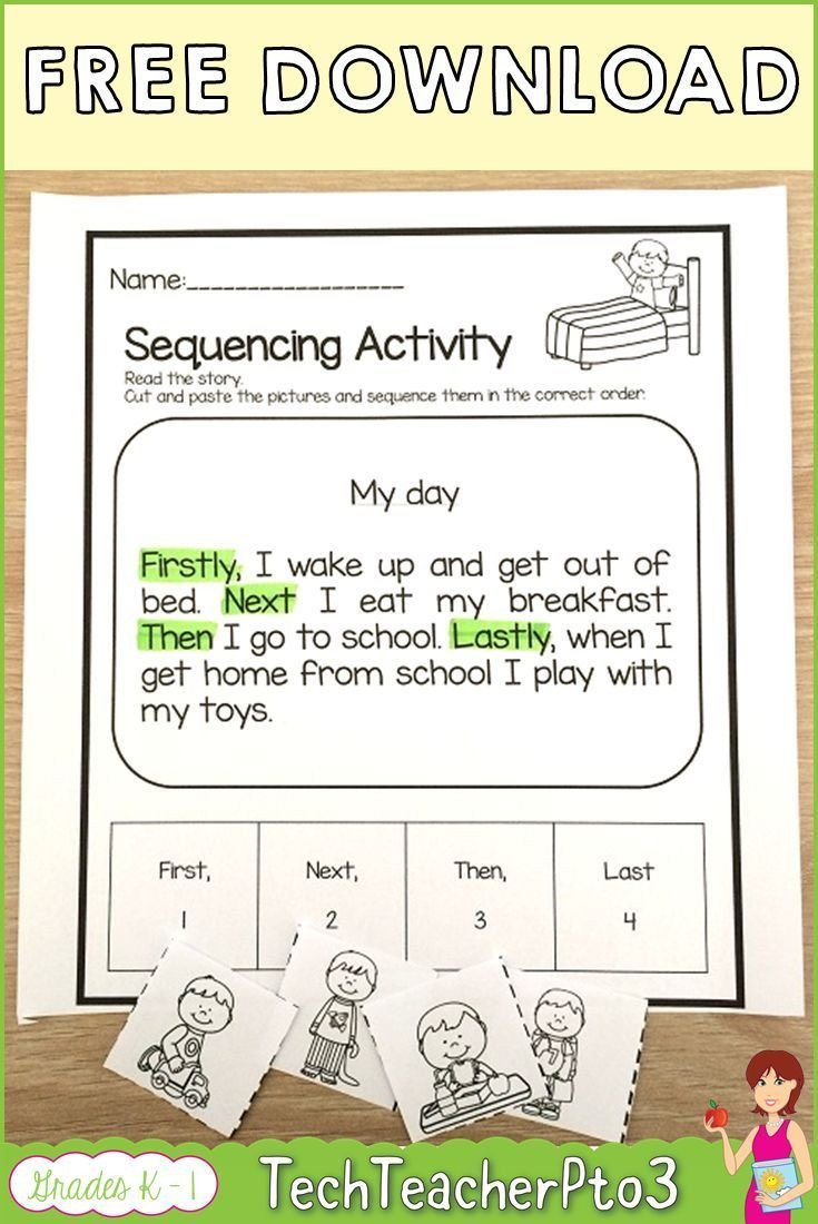 Cut and Paste Sequencing Worksheets Pin On Tpt Can Teach Every Child
