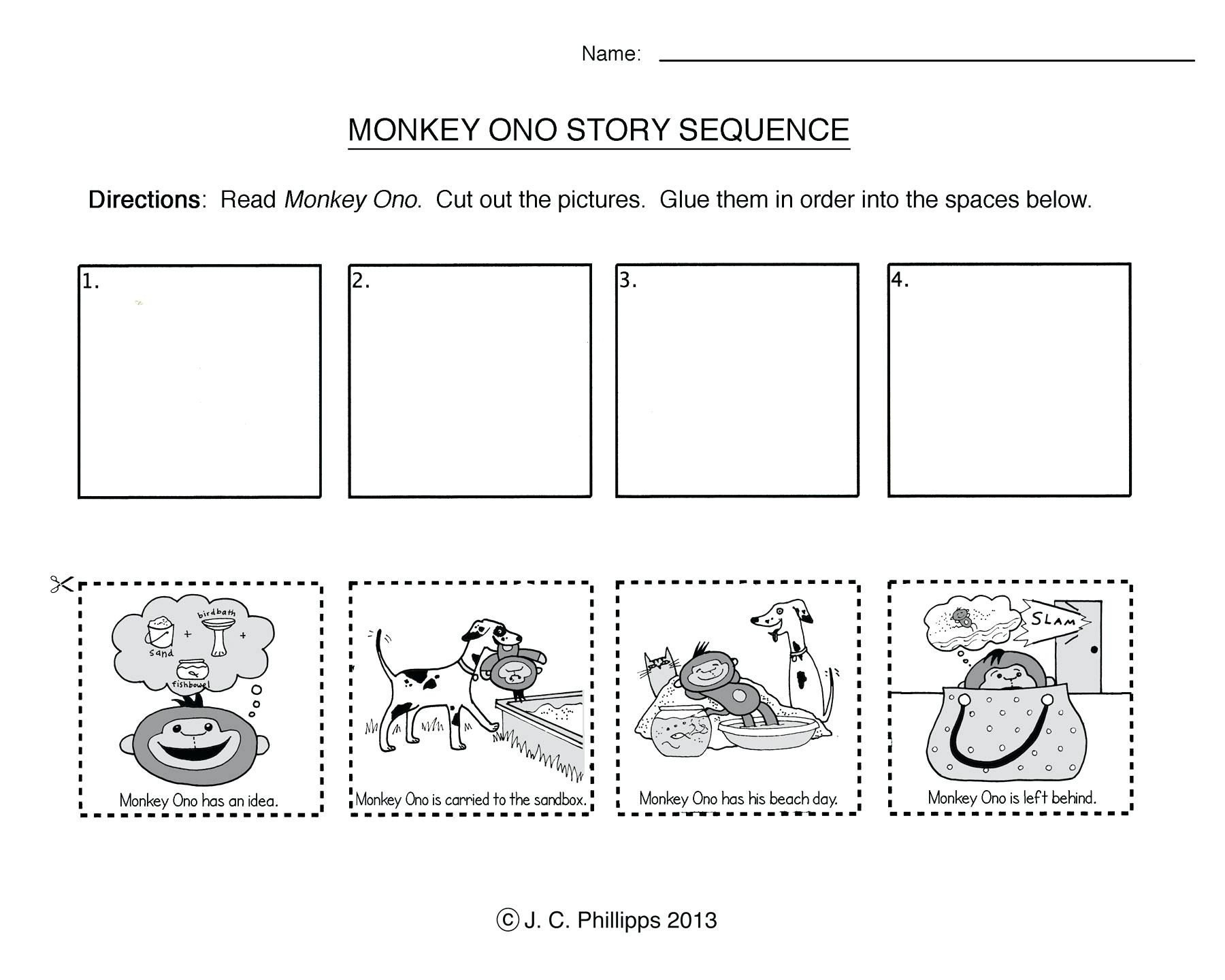 Cut and Paste Sequencing Worksheets Sequence Spring Worksheets