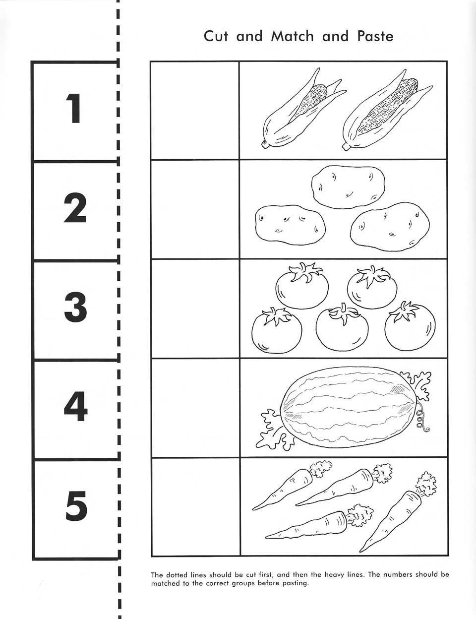 Cut and Paste Worksheet Rod Staff Preschool Workbooks with Free Cut and Paste