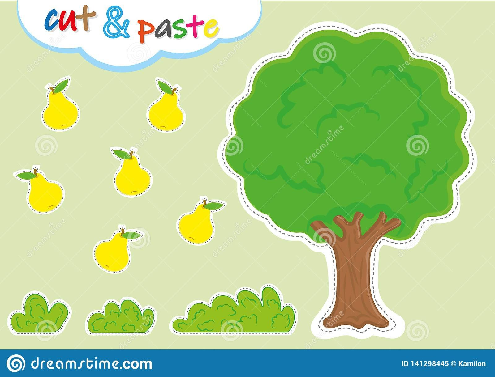 Cut and Paste Worksheets Cut and Paste Activities for Kindergarten Preschool Cutting
