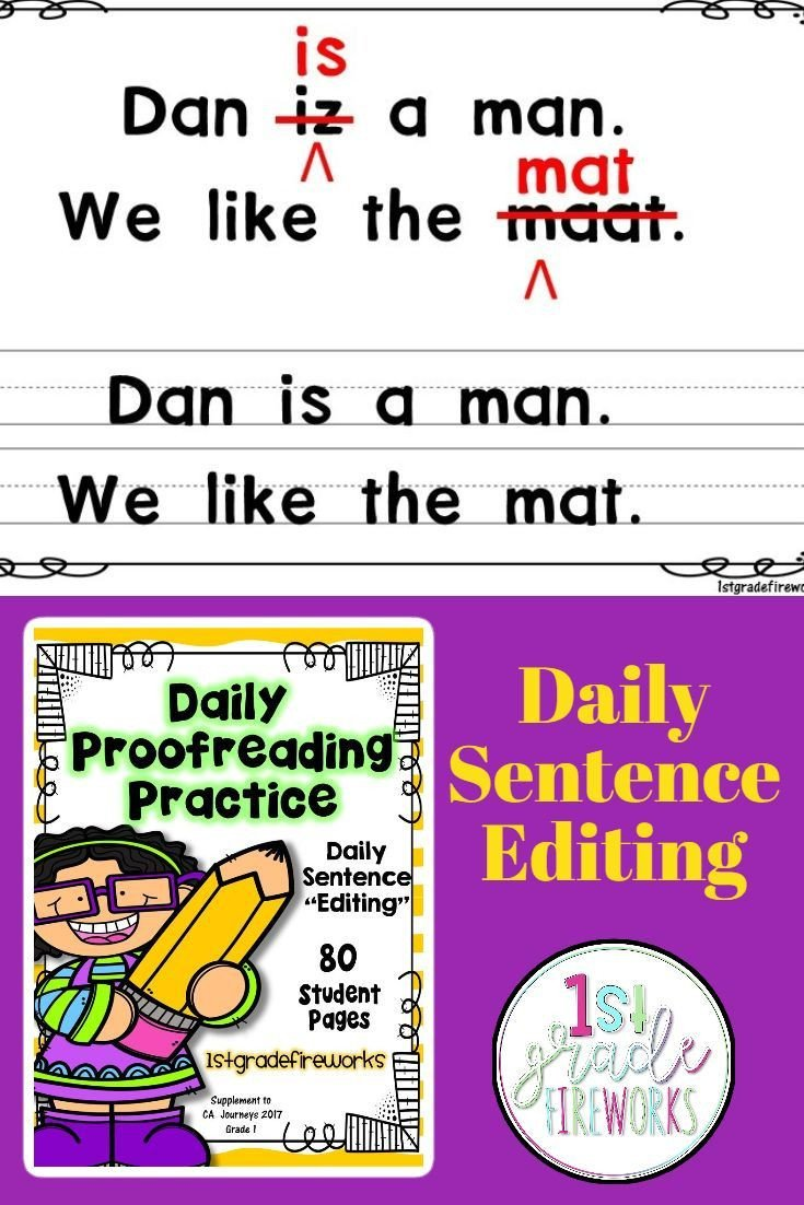 Daily Edit Worksheet Daily Proofreading Practice Fix It 2